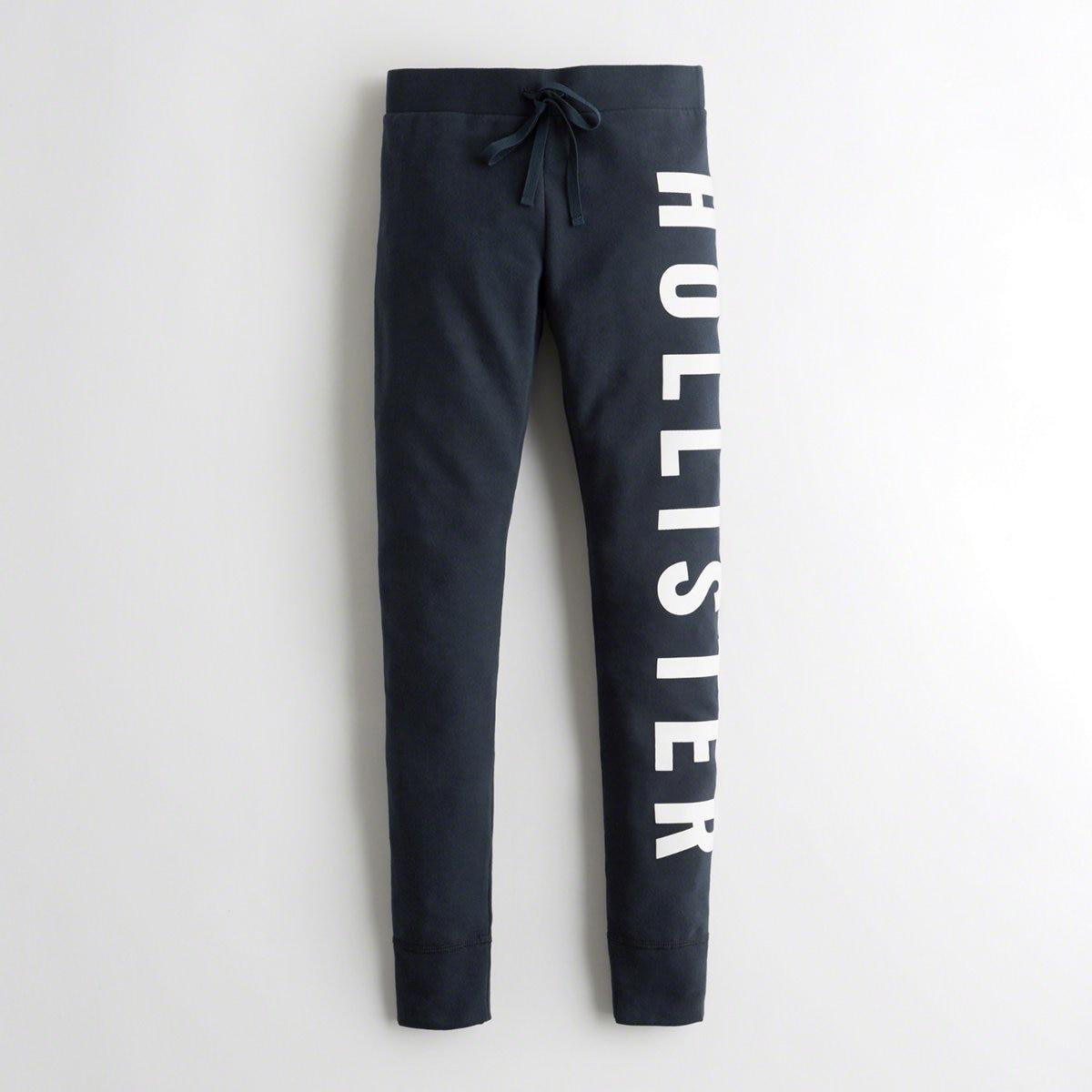 2fedadc9430582 Lyst - Hollister Girls Logo Fleece Leggings From Hollister in Blue