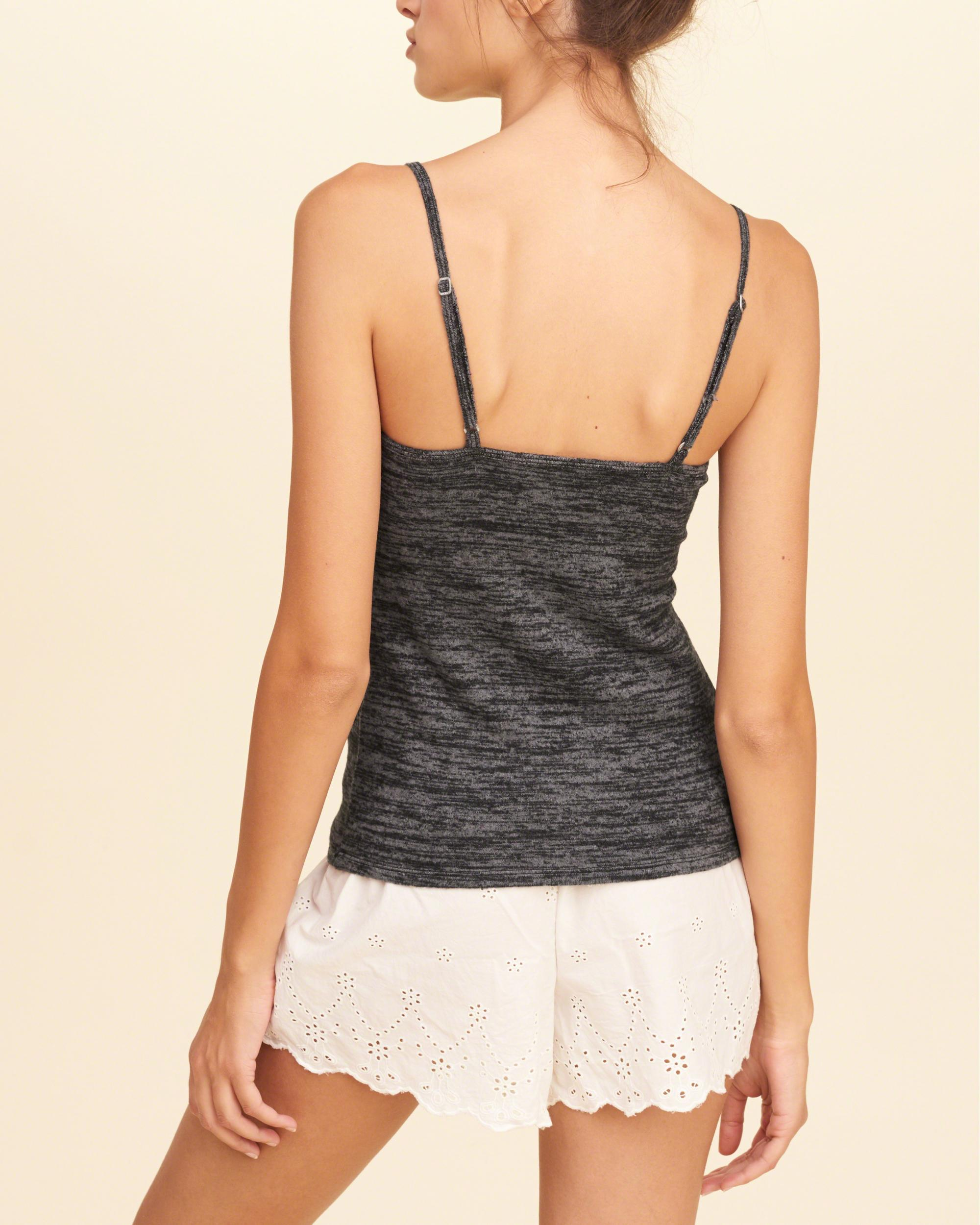 d61ca0f172a Lyst - Hollister Textured Knit Cami in Gray