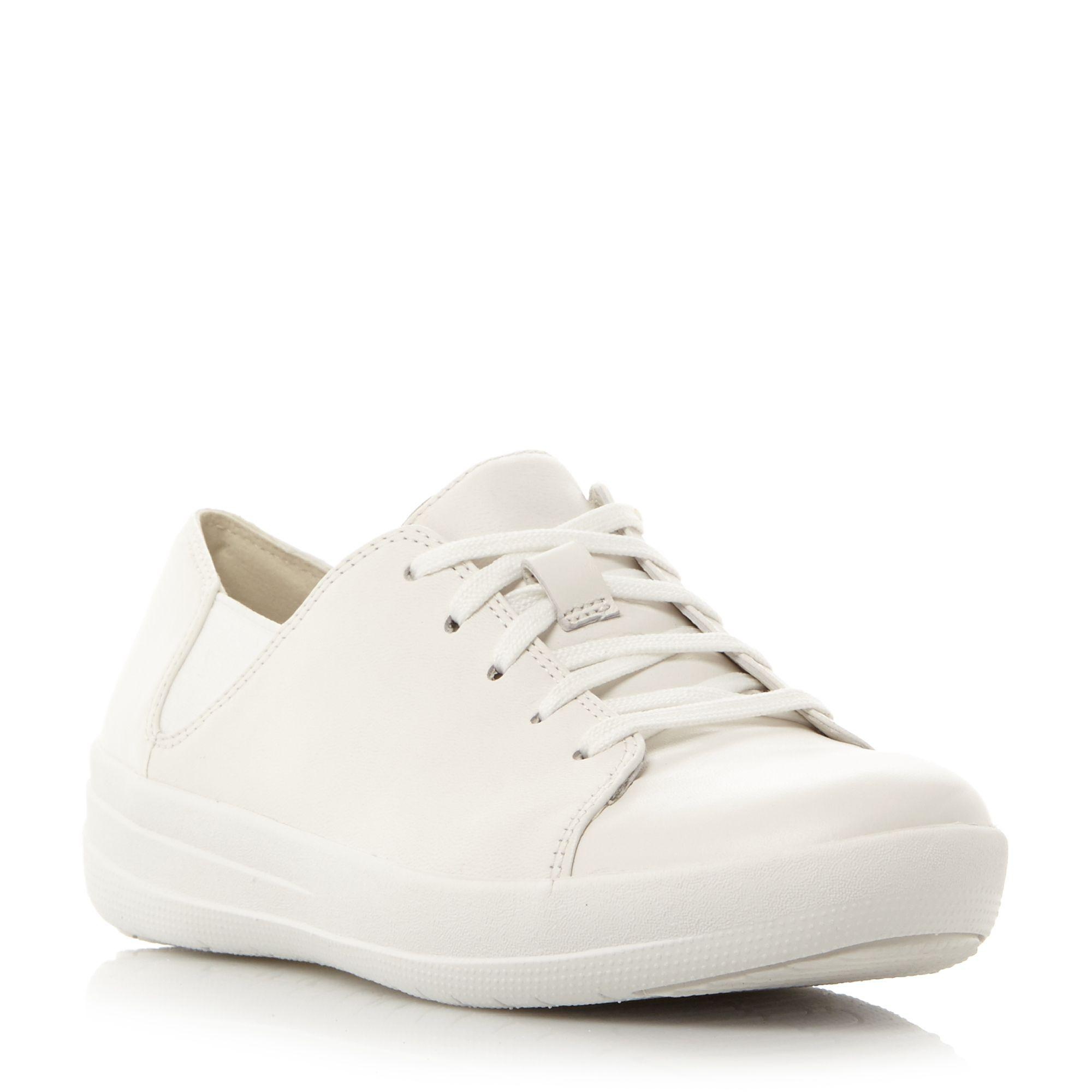 18ddb95b7d92cf ... Fitflop. Women s White F-sporty Leather Lace-up Trainer most popular  aef19 ...