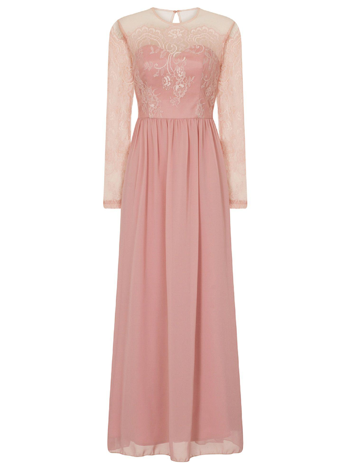 f8a0776445df Chi Chi London Lace Maxi Dress in Pink - Lyst
