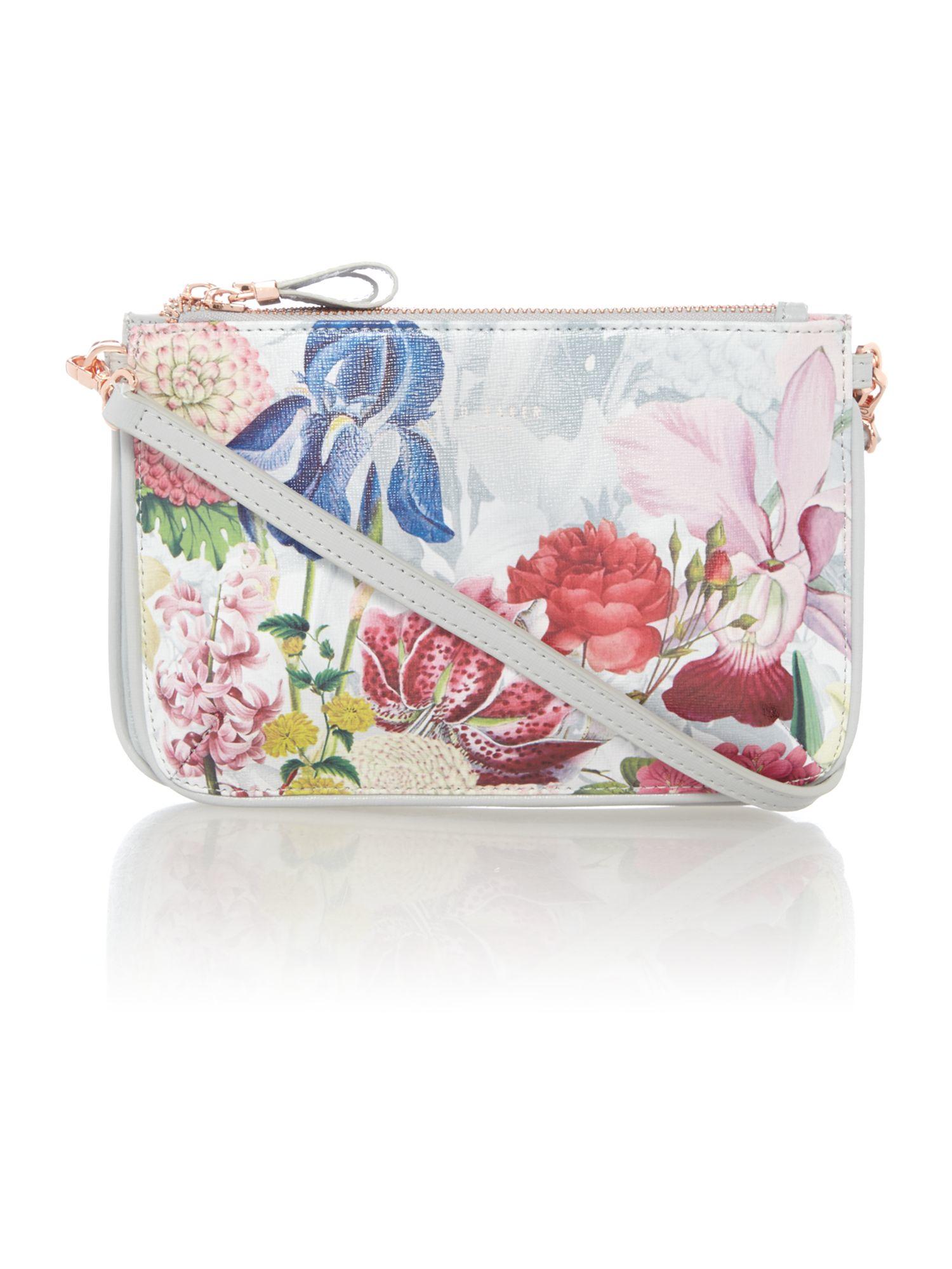 b704ec4ace3ef7 Ted Baker Tressa White Floral Cross Body Bag in White - Lyst