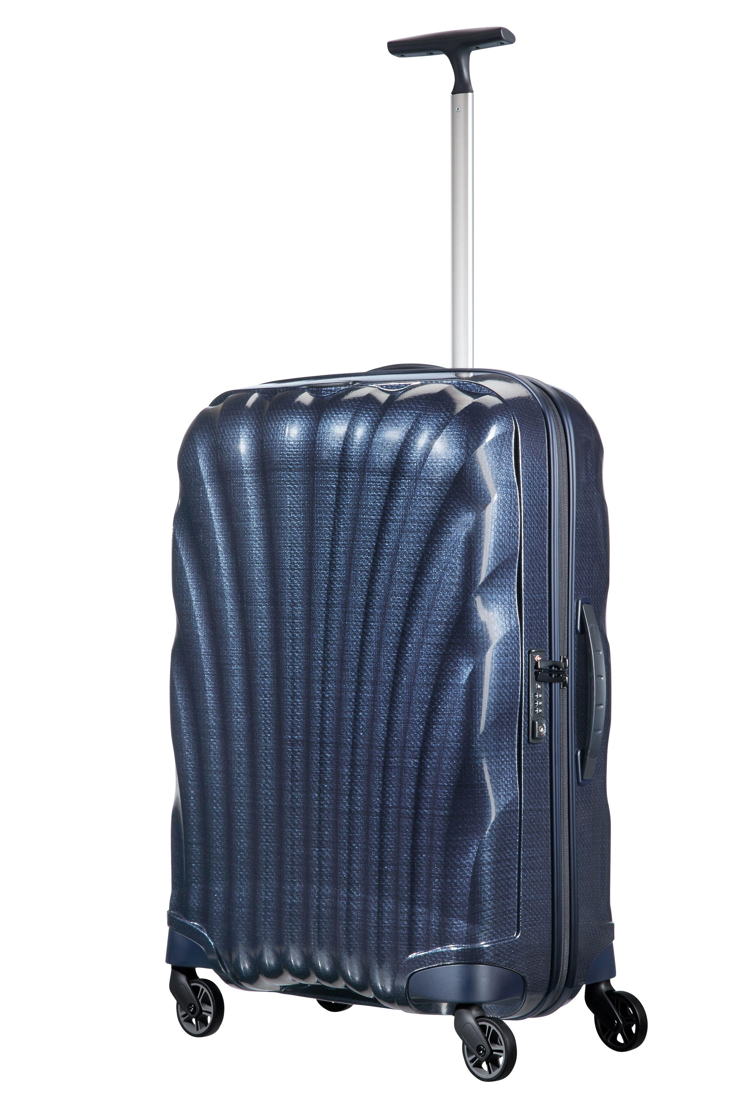 samsonite cosmolite 3 0 navy 4 wheel 69cm medium suitcase in blue lyst. Black Bedroom Furniture Sets. Home Design Ideas