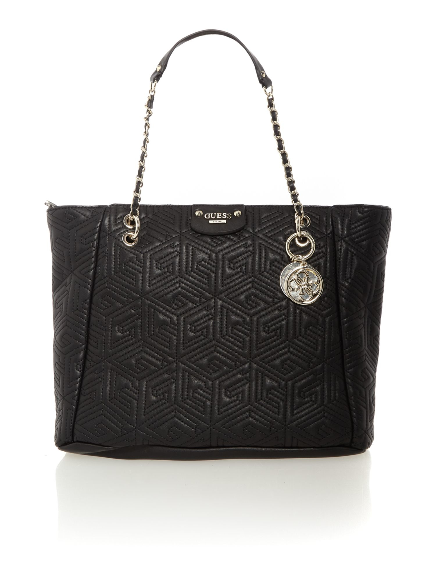 Guess G Cube Black Quilt Tote Bag Lyst