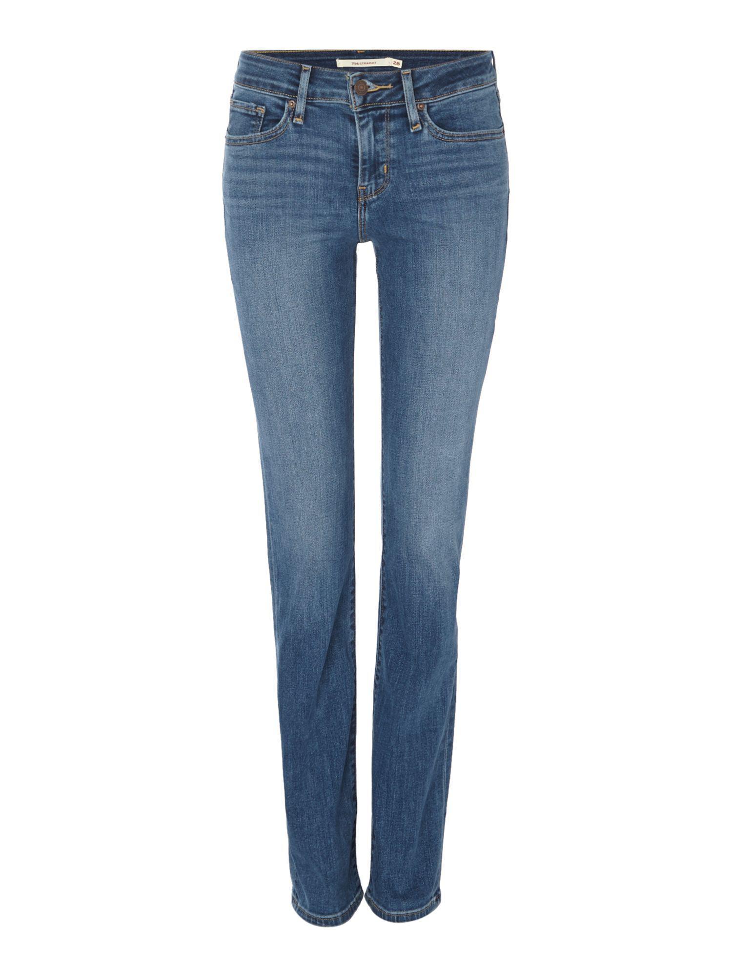 2f067a2f Lyst - Levi's 714 Straight Leg Jean In Blue Vista in Blue