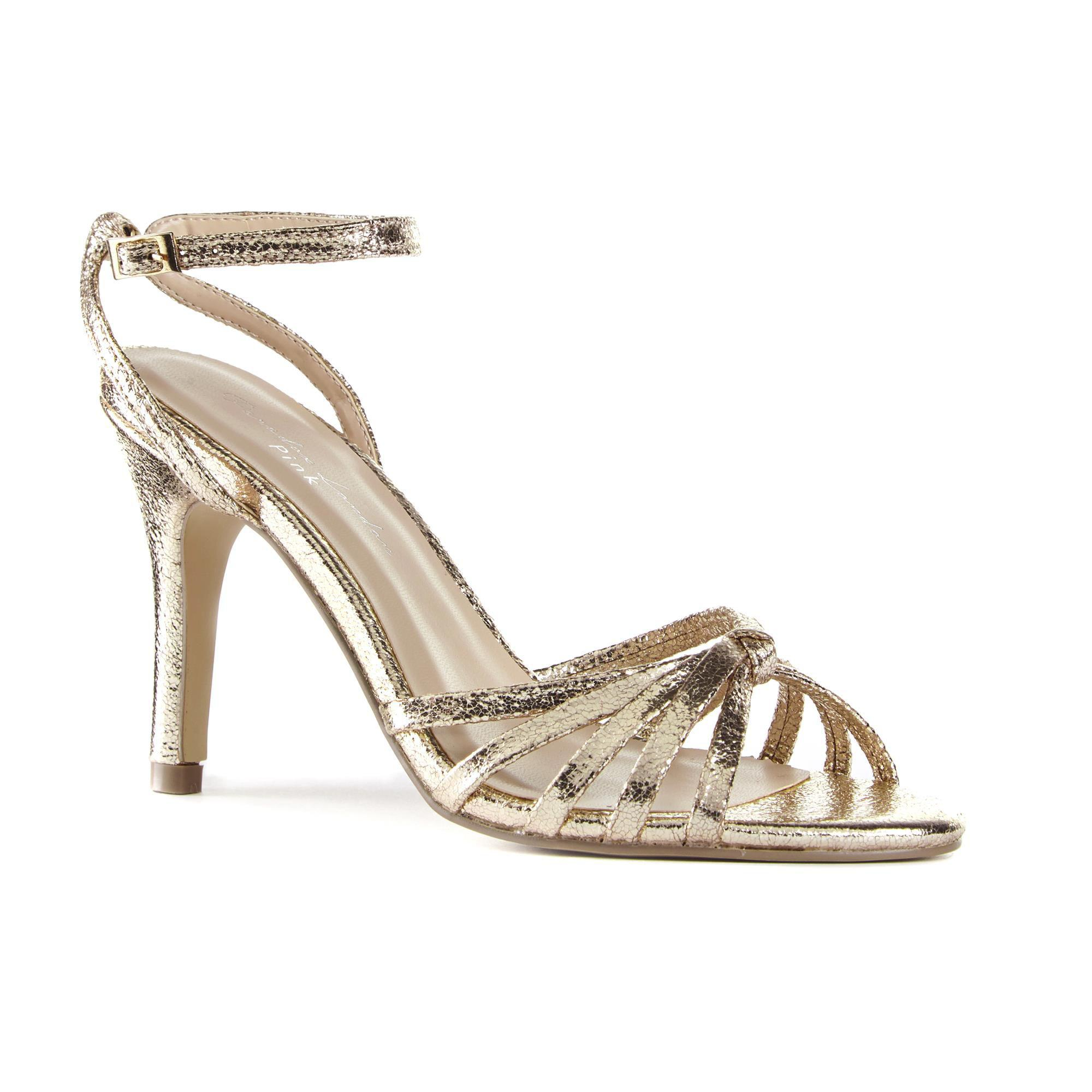 Paradox London Pink MADY - High heeled sandals - champagne crack metallic 03zqDpC