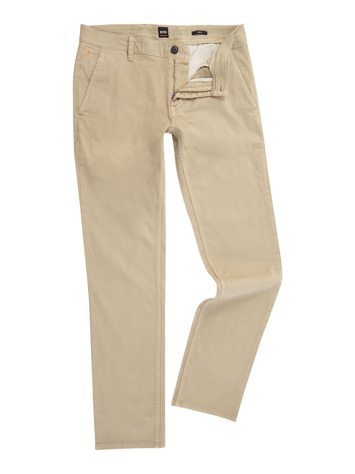 ecaa978ba BOSS - White Men's Schino Slim Fit Chino for Men - Lyst. View fullscreen