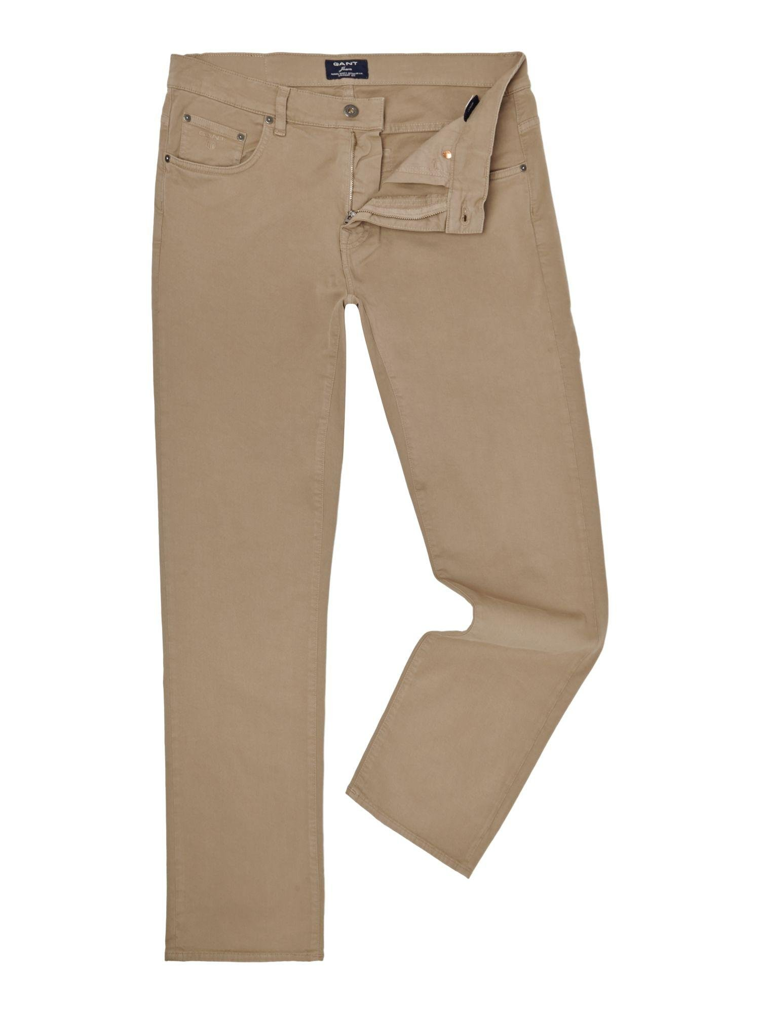 a91a3597b6 Gant Jason Comfort Desert Twill Jeans in Brown for Men - Lyst