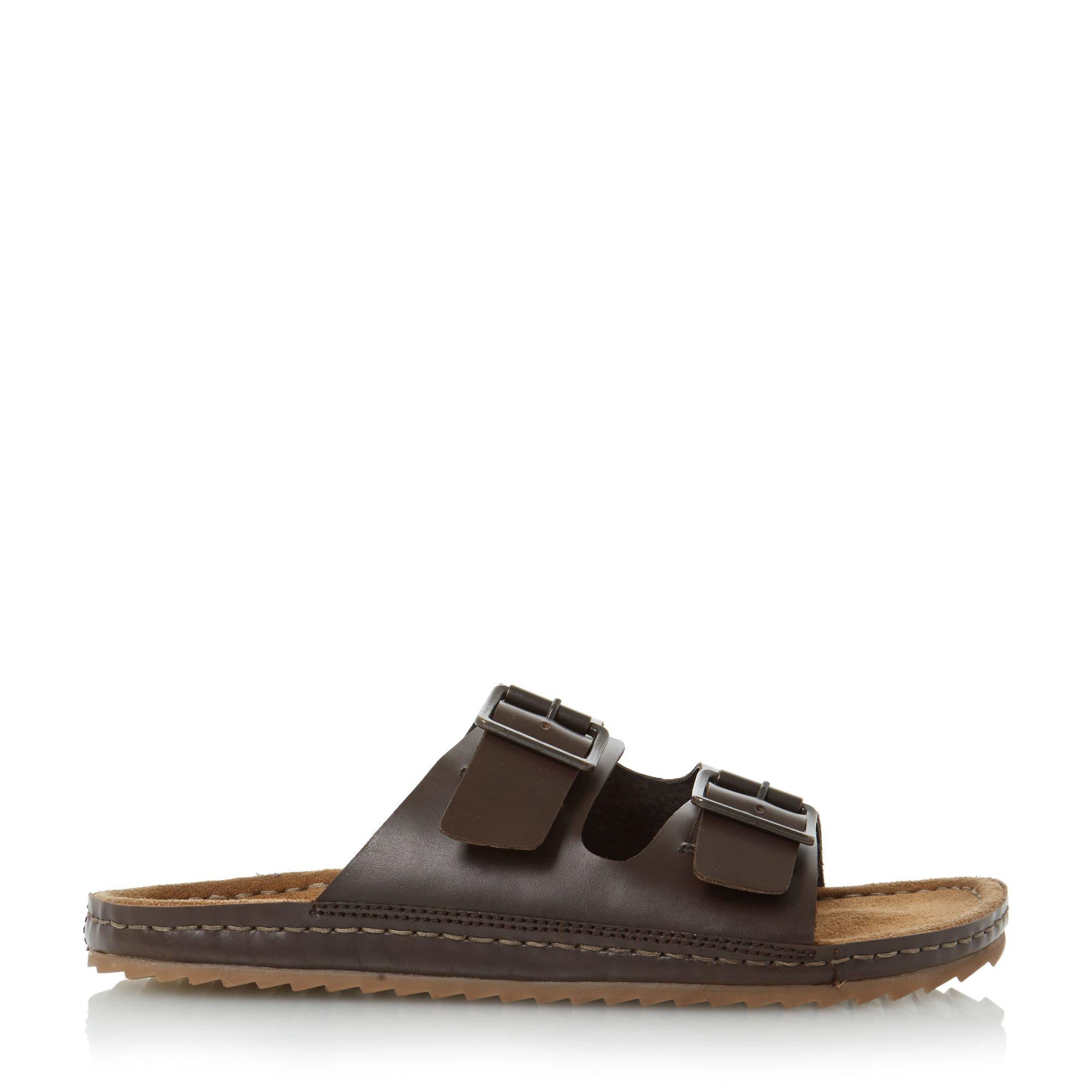 Bertie Frodo Double Buckle Sandals In Beige For Men Brown Lyst