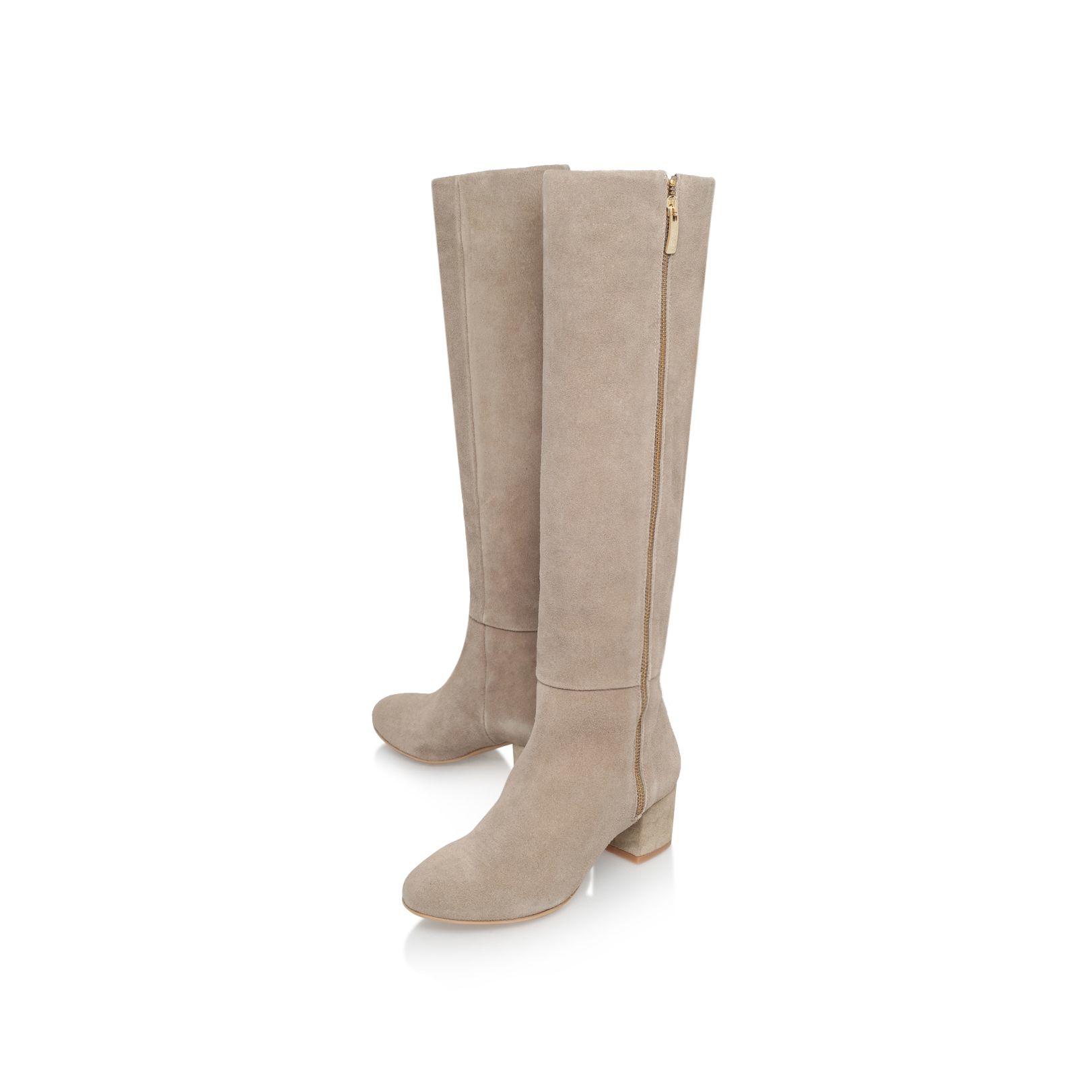 kurt geiger casey high heel knee boots in lyst