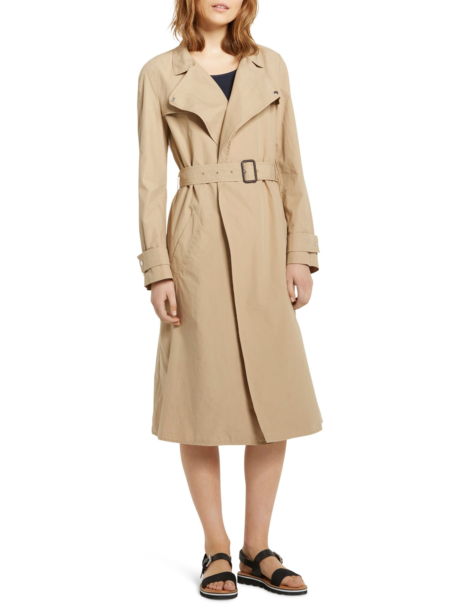 Marc o 39 polo trench coat in classic style in natural lyst for Quality classic house of fraser