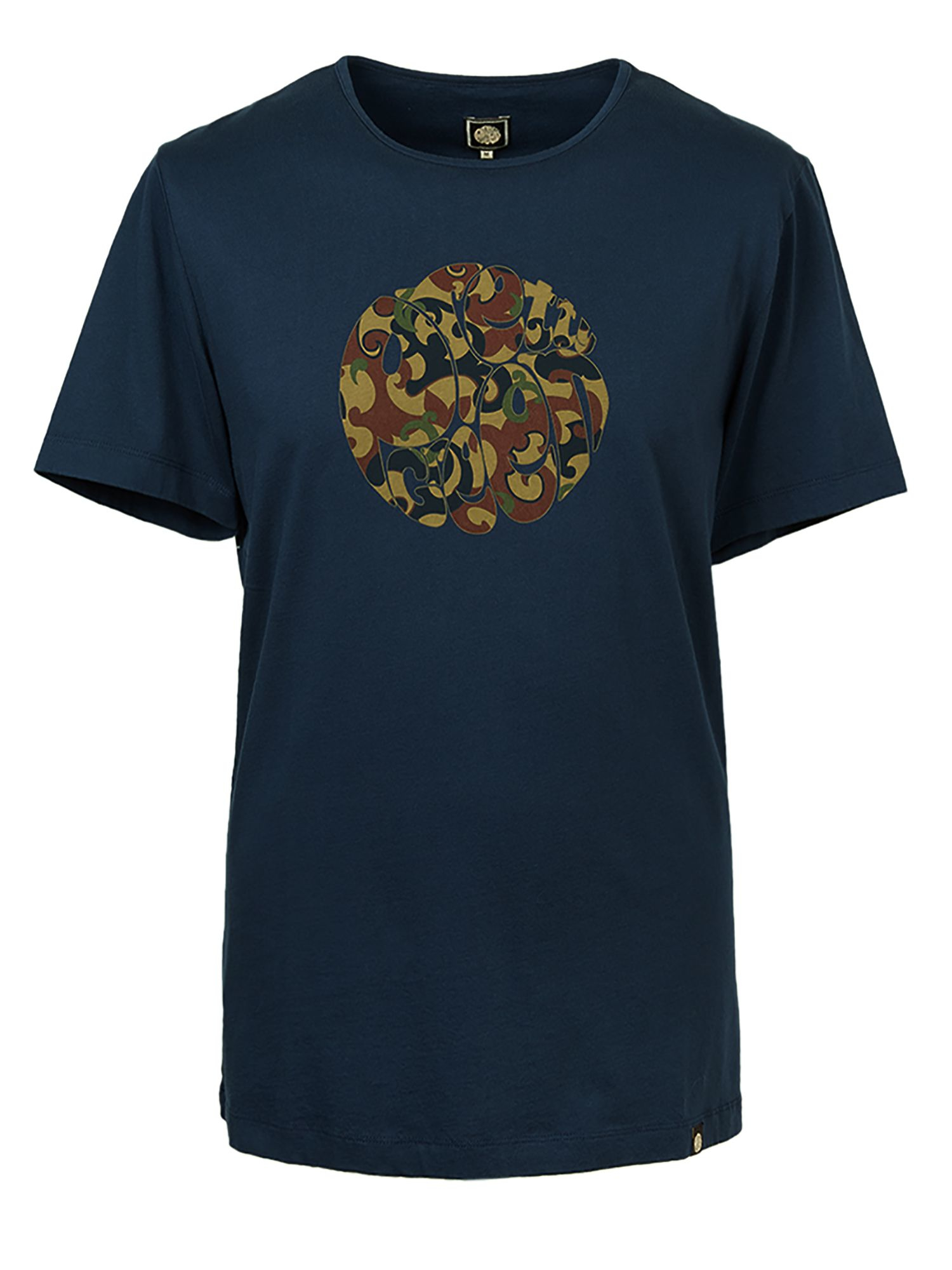 Lyst Pretty Green Riley Print Logo T Shirt In Blue For Men