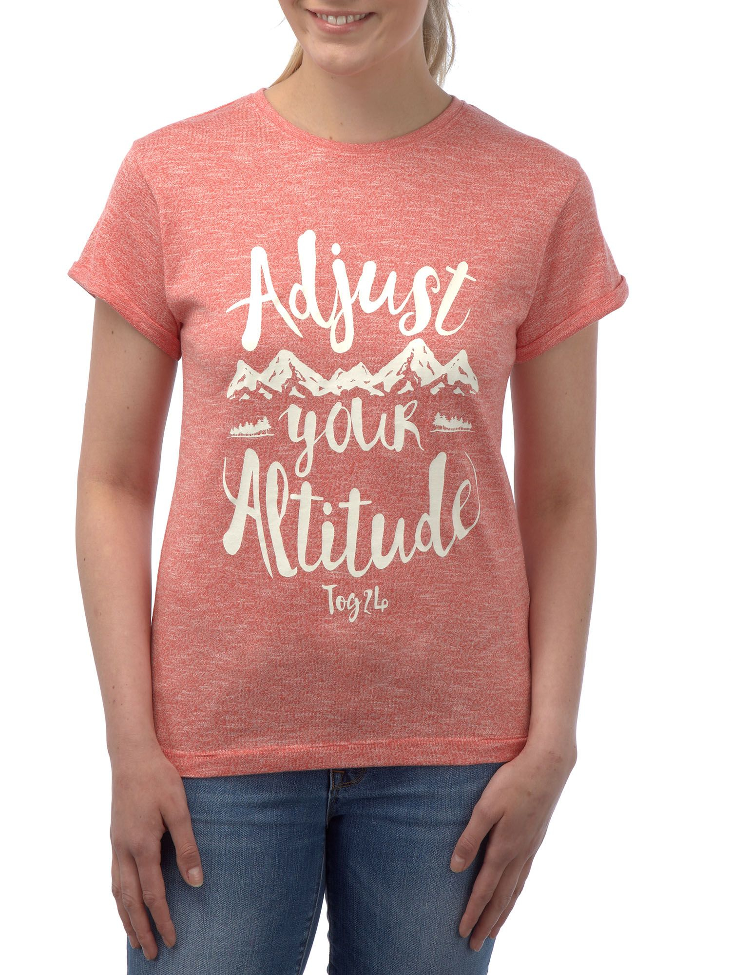 Tog 24 brett womens t shirt adjust print in pink lyst for 24 t shirt printing