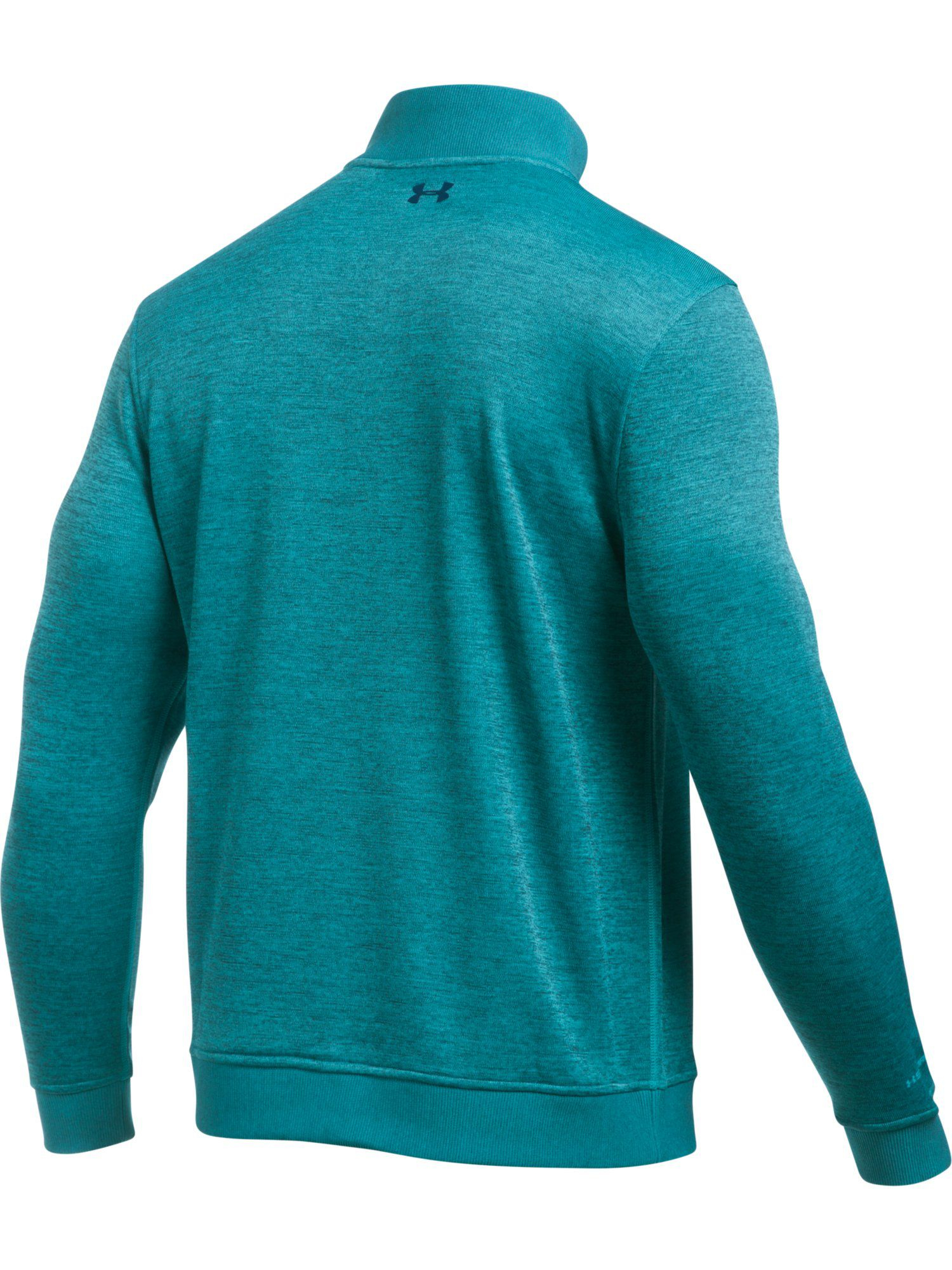 Lyst under armour storm sweater fleece in blue for men for Flannel shirt under sweater