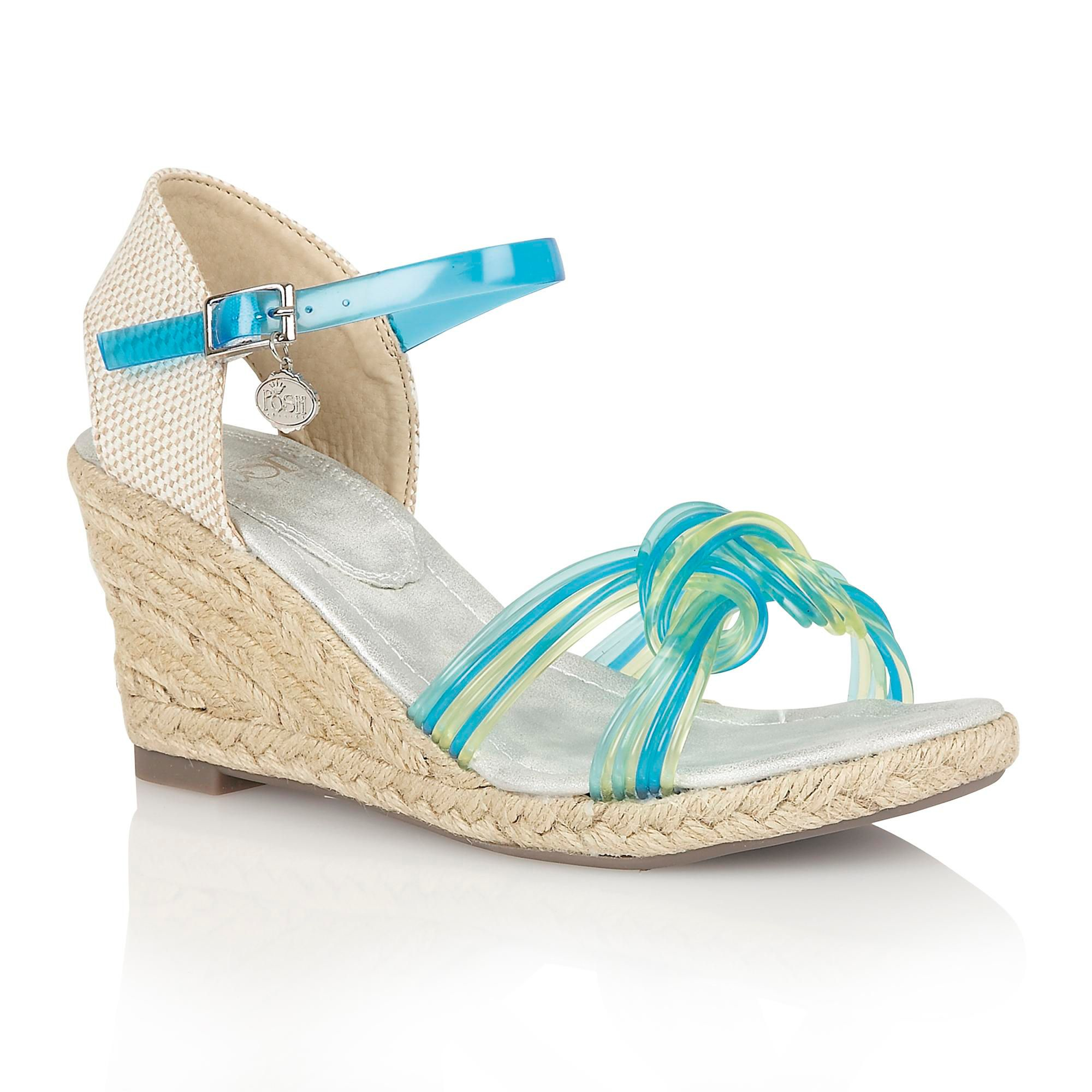 lotus sancho wedge sandals in blue lyst