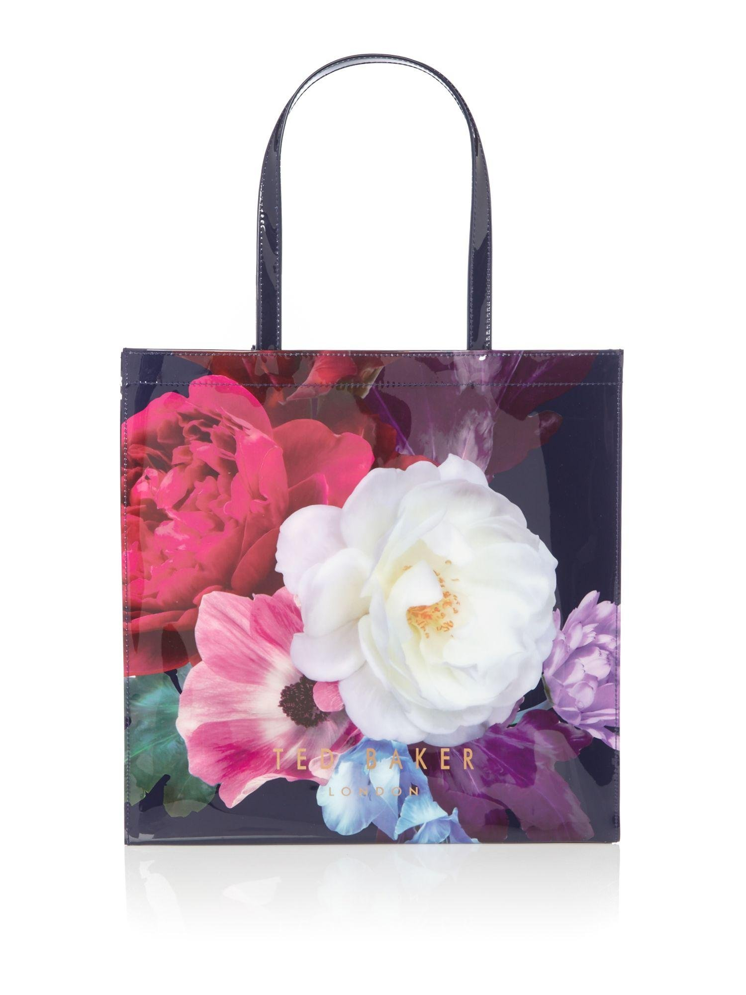 Ted Baker Boucon Large Floral Bowcon Bag In Blue | Lyst