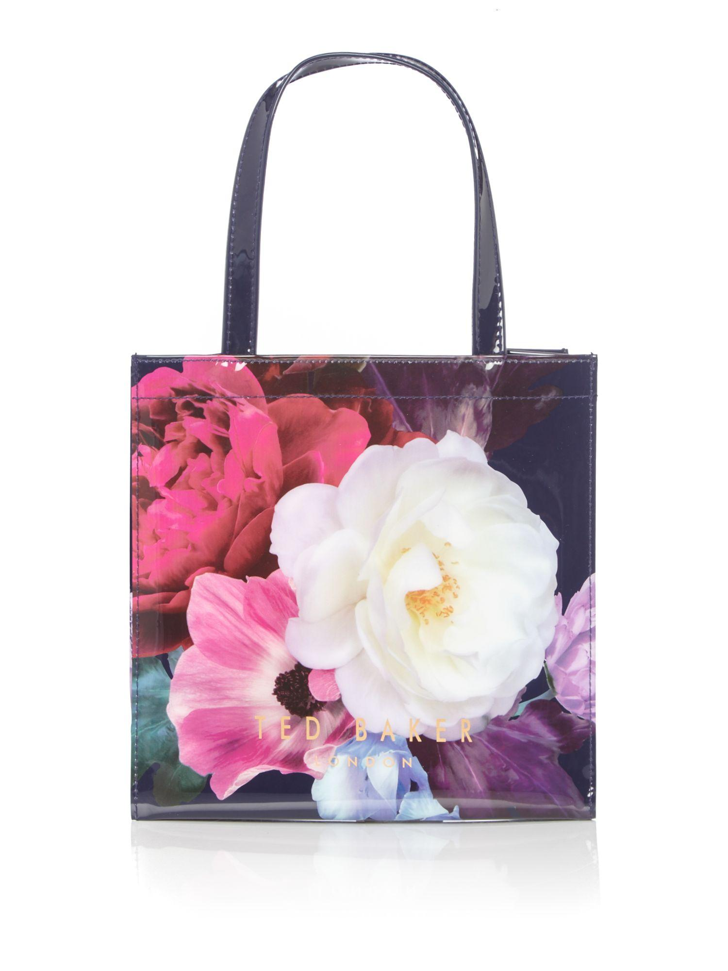 Lyst - Ted Baker Innacon Small Floral Bowcon Bag In Blue