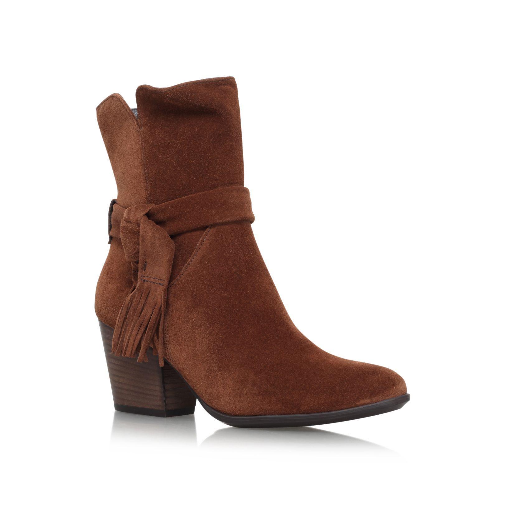 lyst paul green lindsay high heel ankle boots in brown. Black Bedroom Furniture Sets. Home Design Ideas