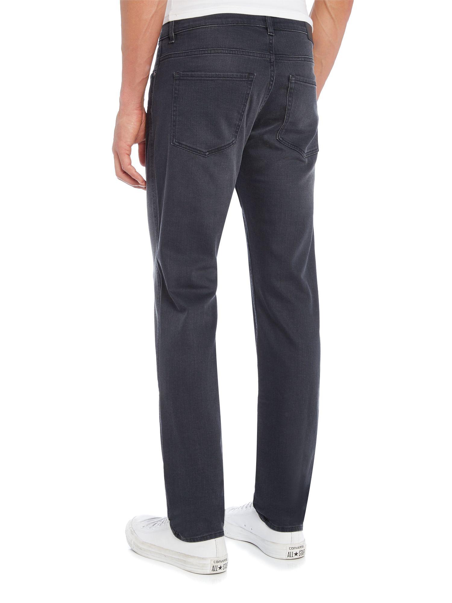 boss c delaware slim fit grey wash jeans in gray for men. Black Bedroom Furniture Sets. Home Design Ideas