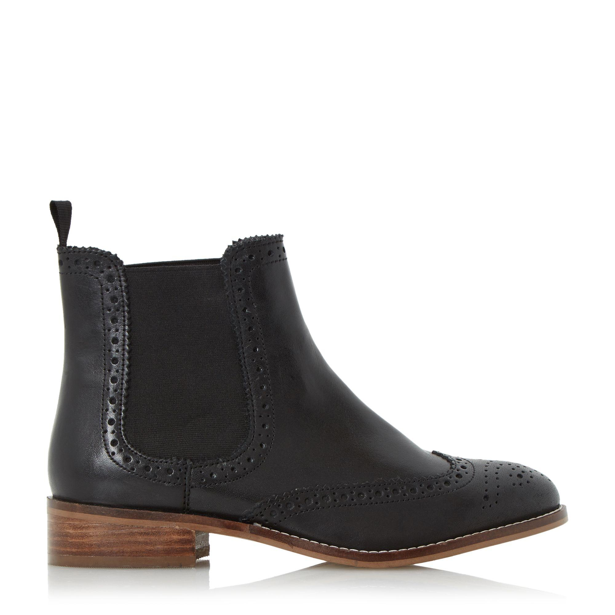 dune riff biker boots in black lyst