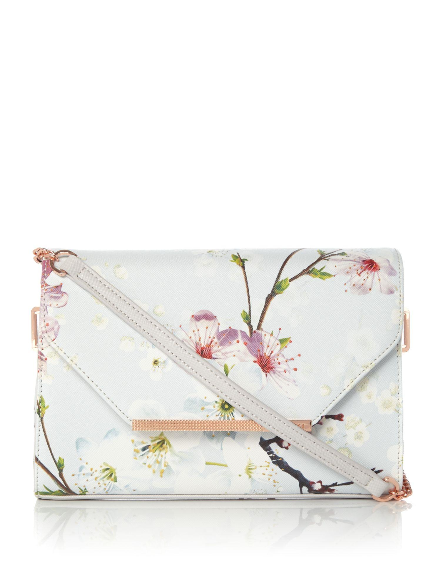 Ted Baker Hadly Floral Crossbody Bag In Gray | Lyst