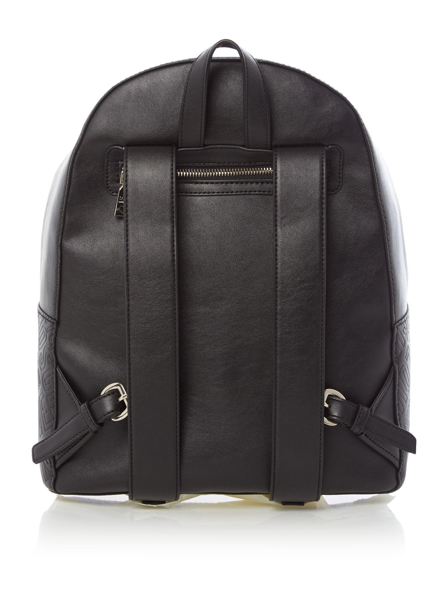 love moschino stitch backpack in black lyst. Black Bedroom Furniture Sets. Home Design Ideas