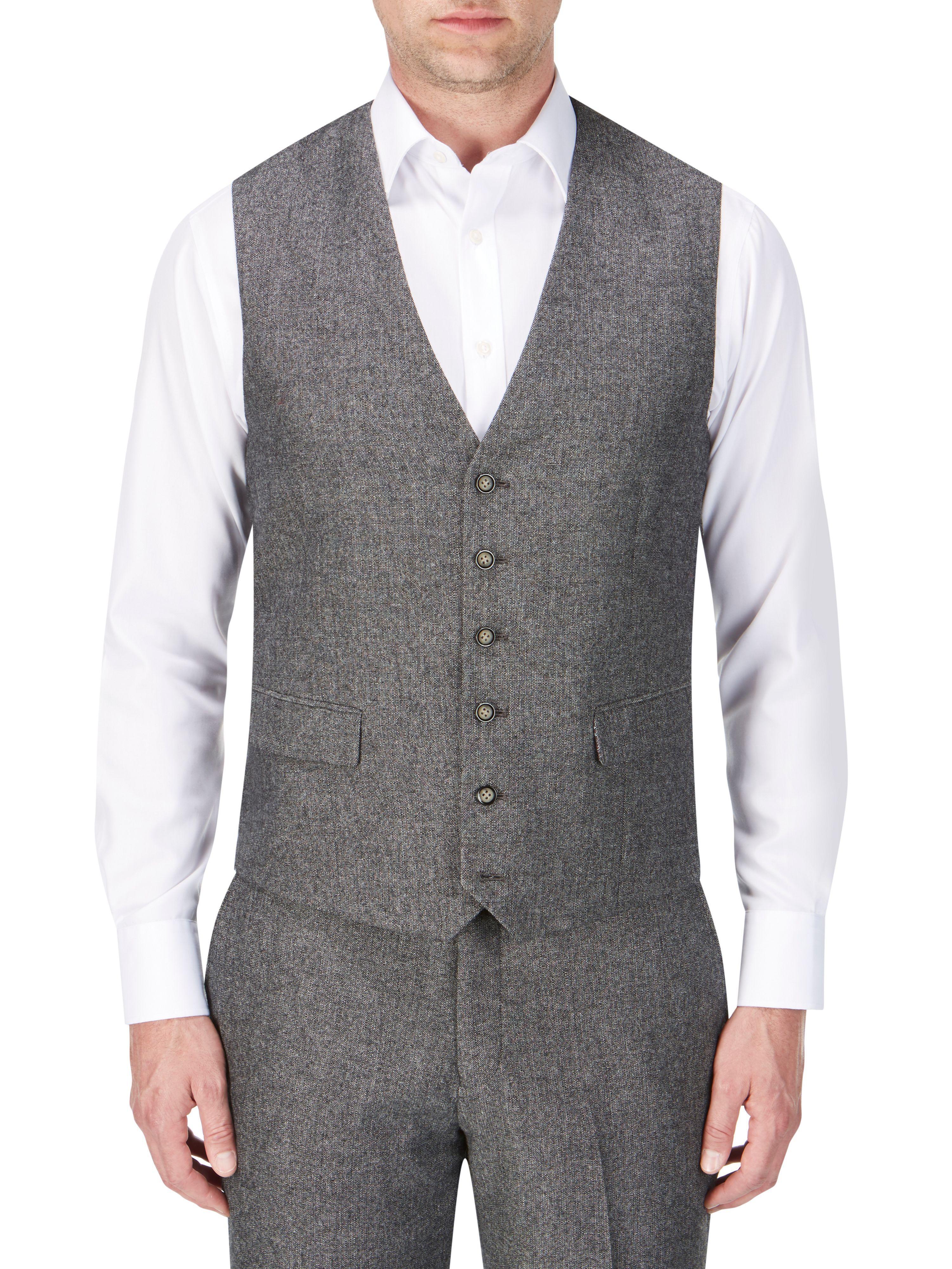 Skopes Brolin Suit Waistcoat In Gray For Men Lyst