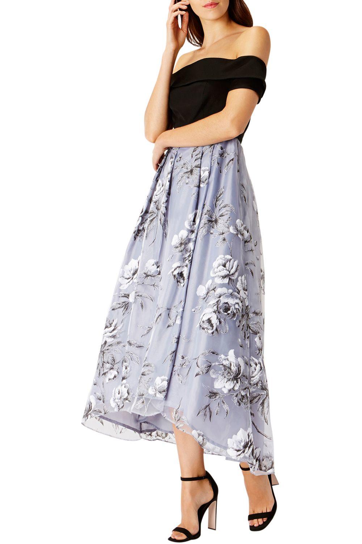 Lyst Coast Yaya Printed Dress In Metallic