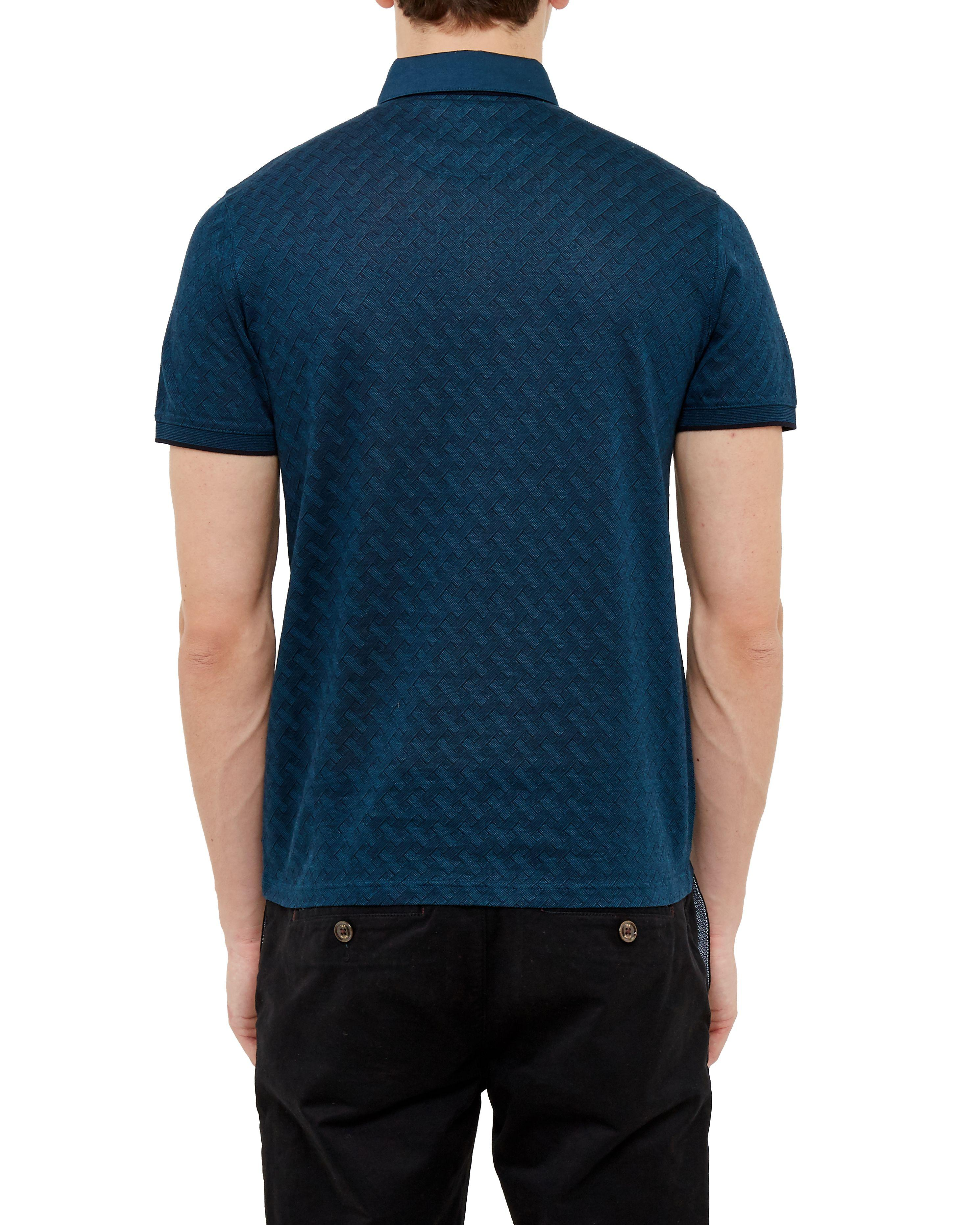 Lyst ted baker serge polo shirt in blue for men for Ted baker blue shirt