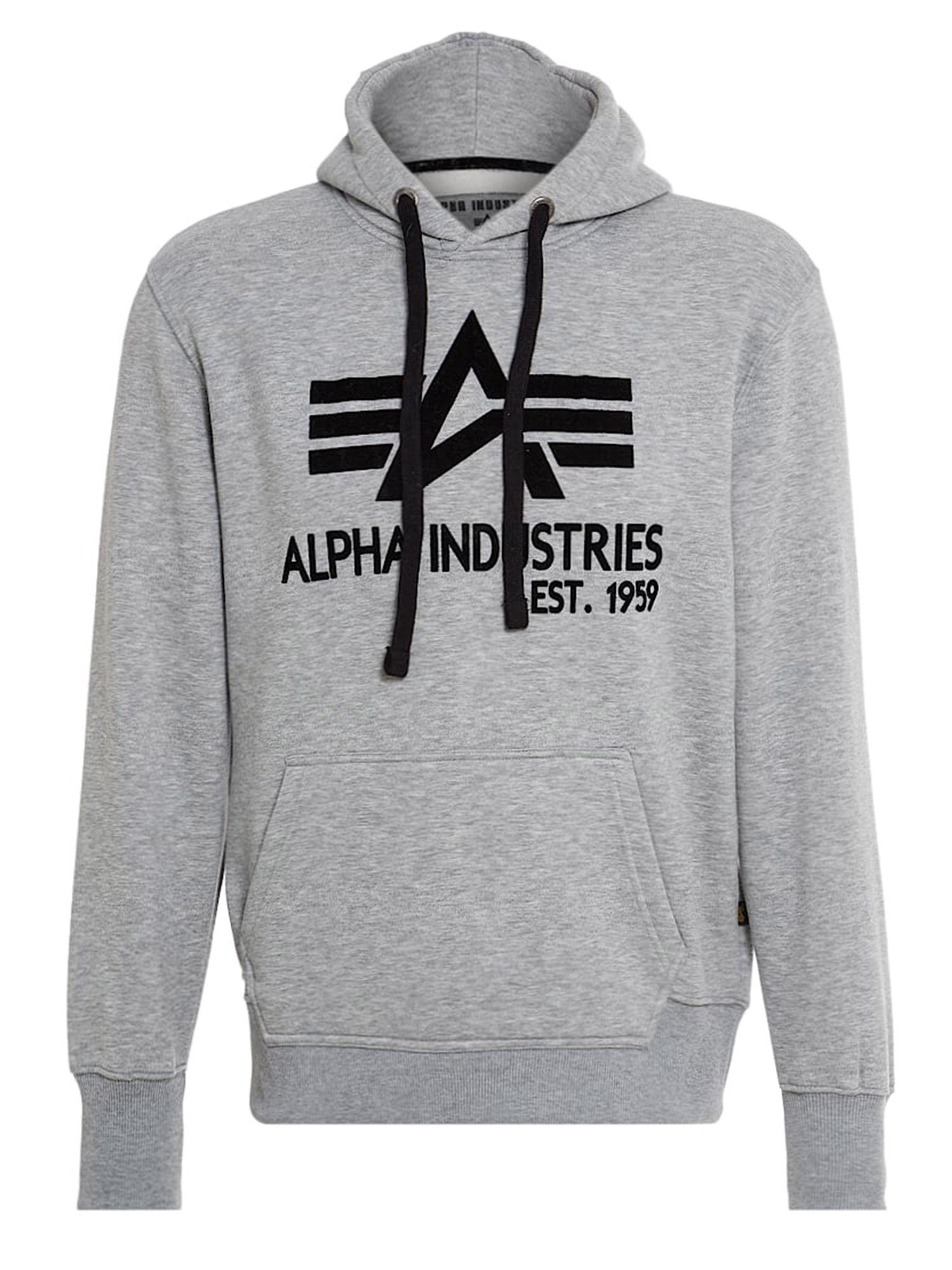 Alpha industries big a classic hoody in gray for men lyst for Quality classic house of fraser