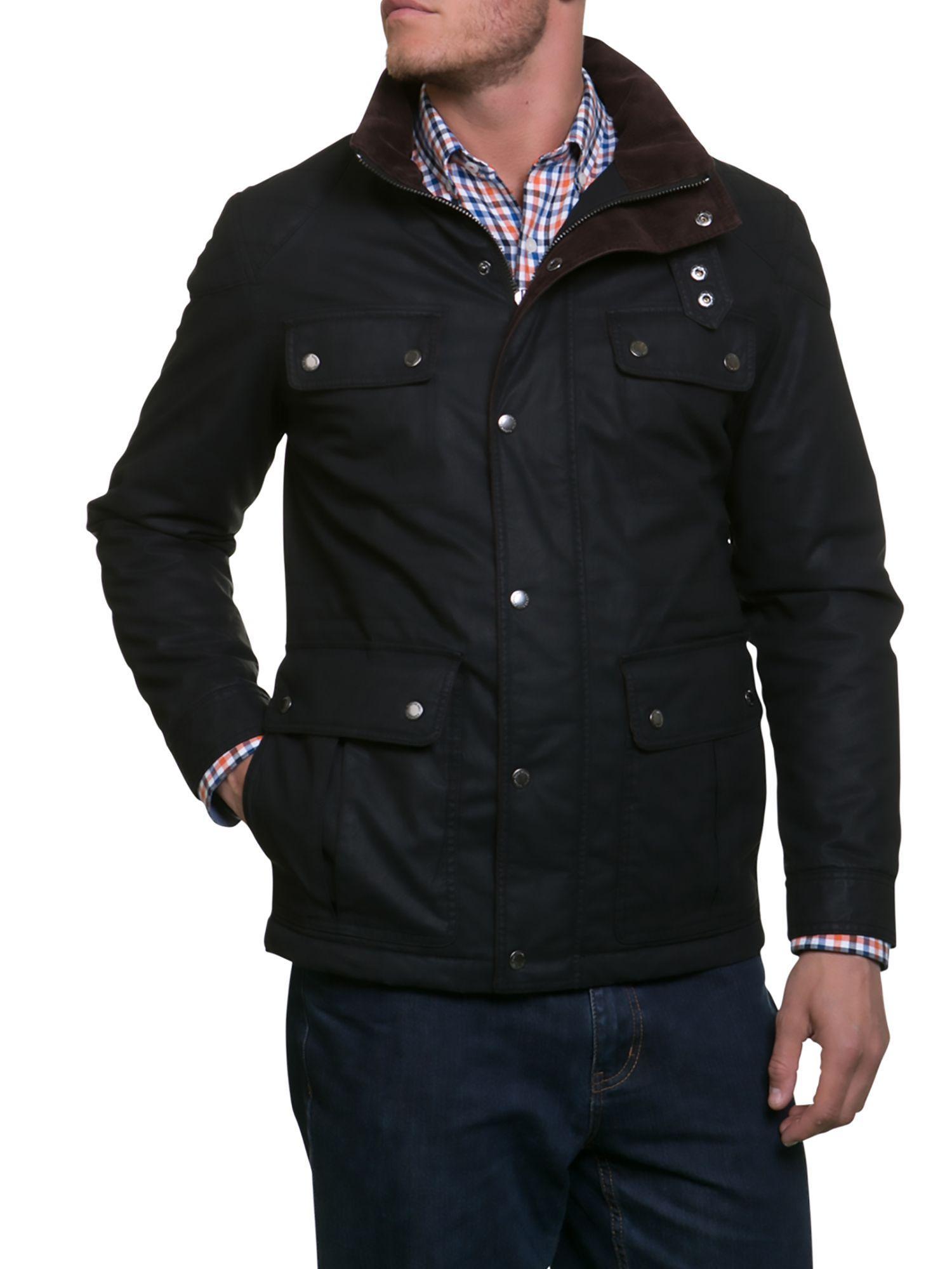 Raging Bull Waxed Field Jacket In Black For Men Lyst