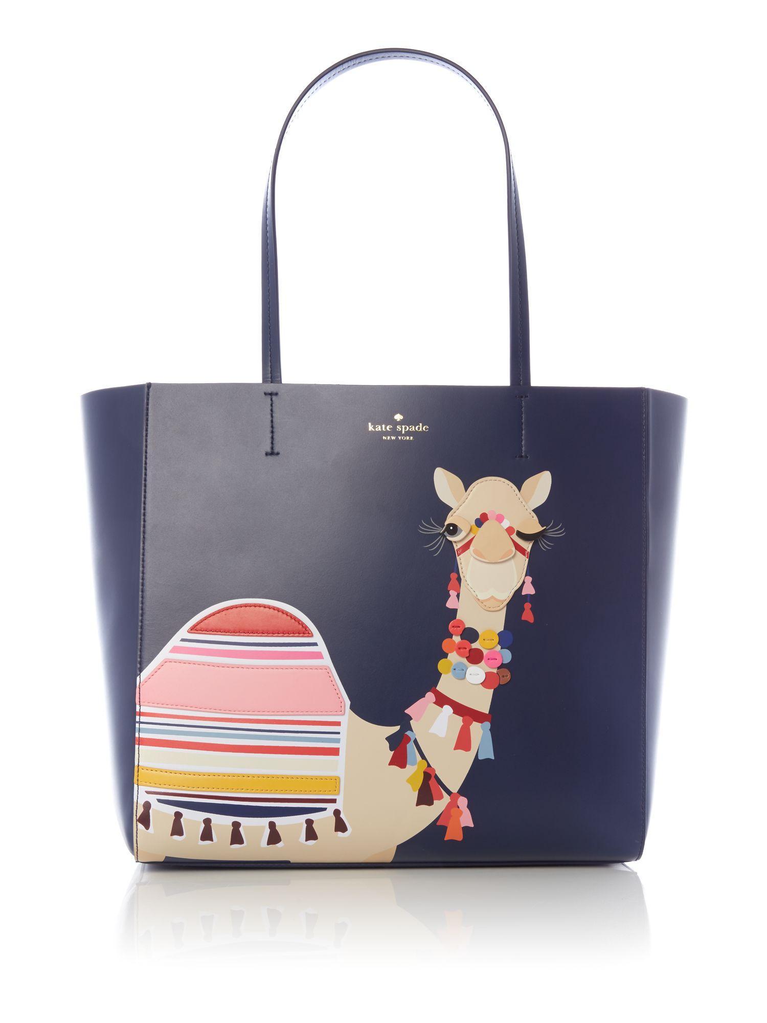 Lyst Kate Spade Camel Hallie Tote Bag In Blue
