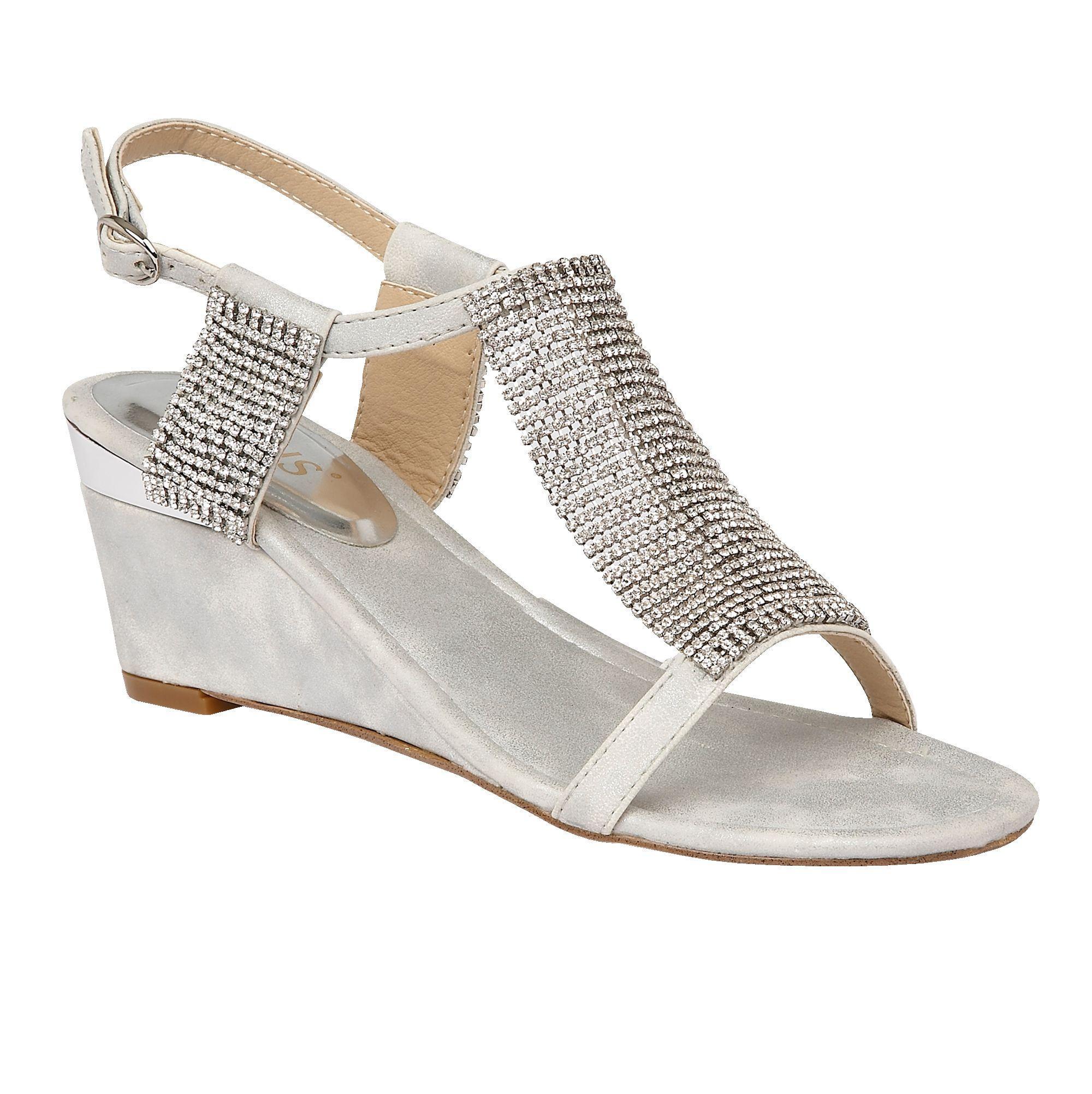 Lotus Klaudia Wedge Sandals In Metallic Lyst