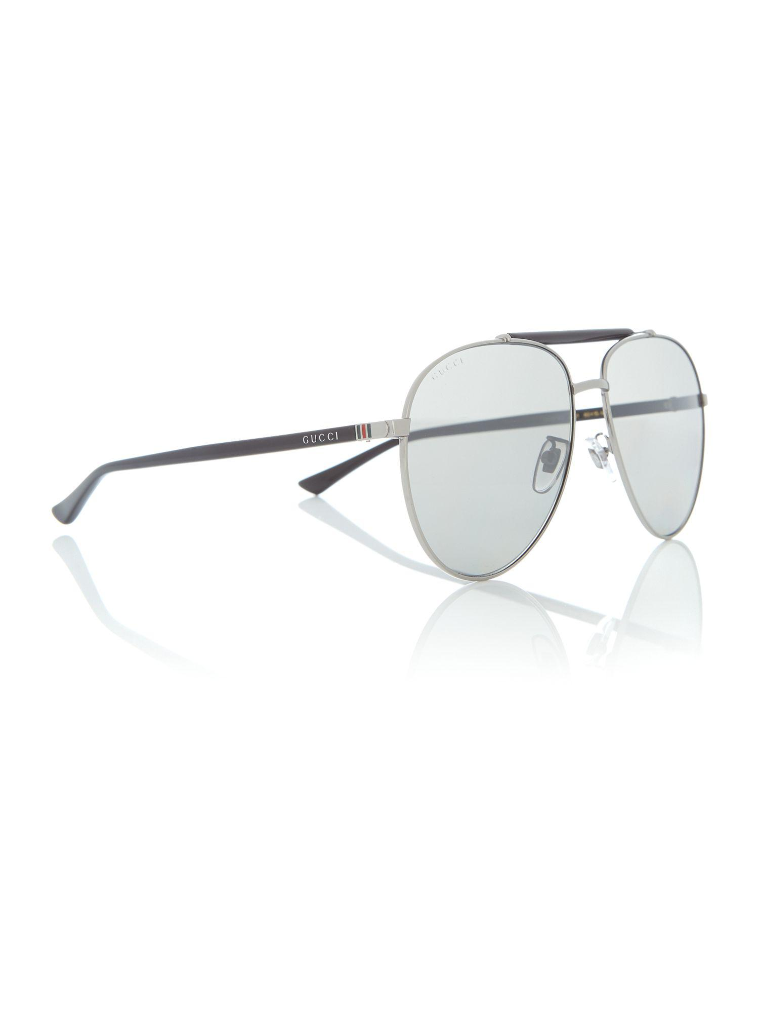 4b6ada33b373 Gucci Grey 0gc000972 Round Sunglasses in Gray for Men - Lyst