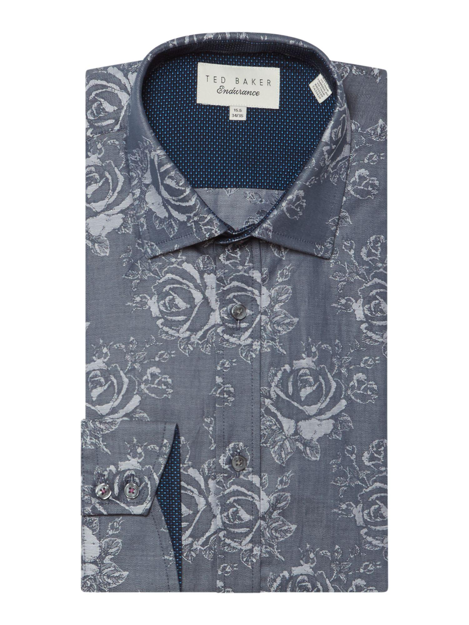 c0e7acd69db9c5 Ted Baker Men s Anook Tonal Textured Shirt in Gray for Men - Save 31 ...