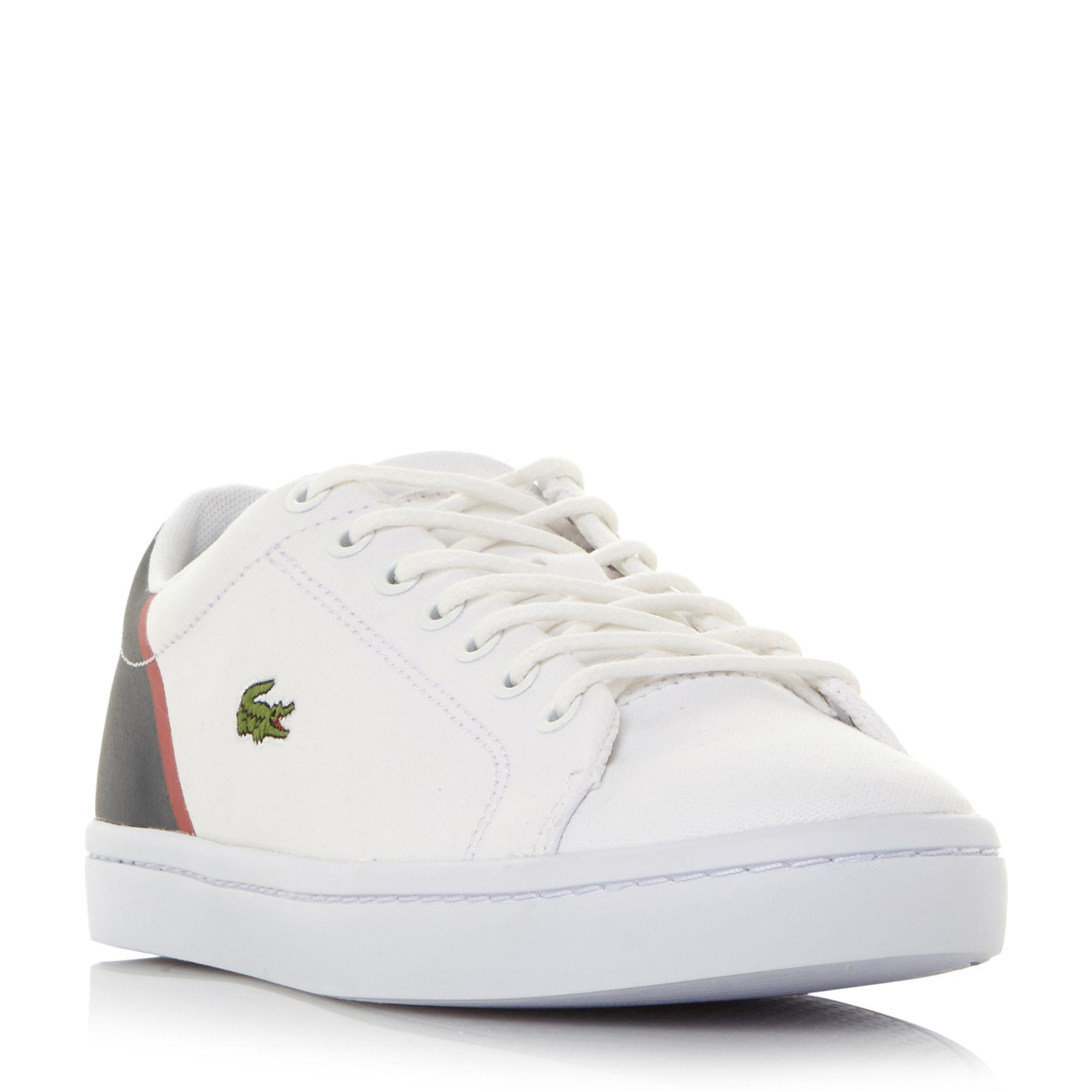 1910243eb Lacoste Straightset Canvas Cupsole Trainers in White for Men - Lyst