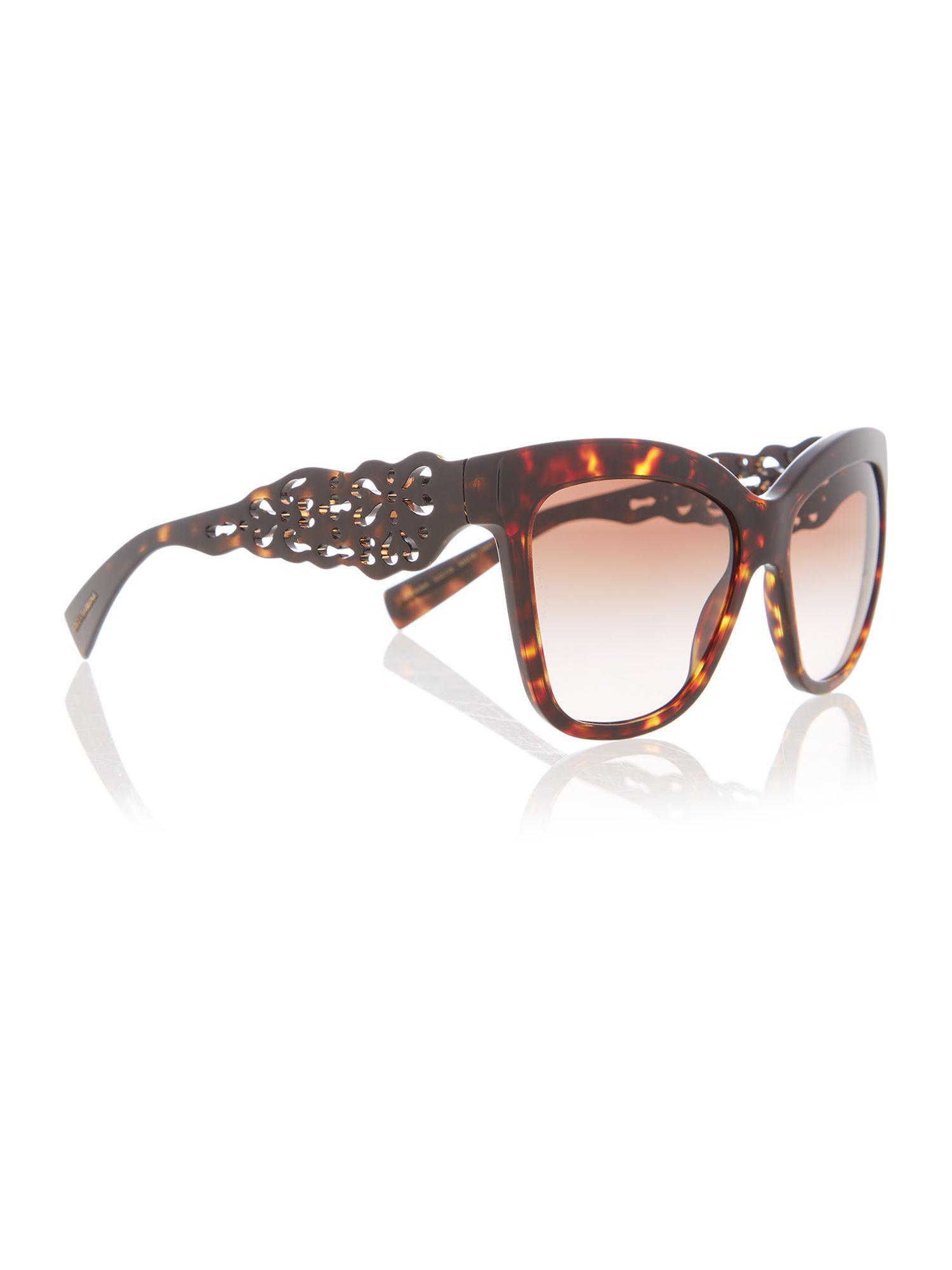 6434f5e7c89 Dolce   Gabbana Dg4264 Female Brown Square Sunglasses in Brown ...