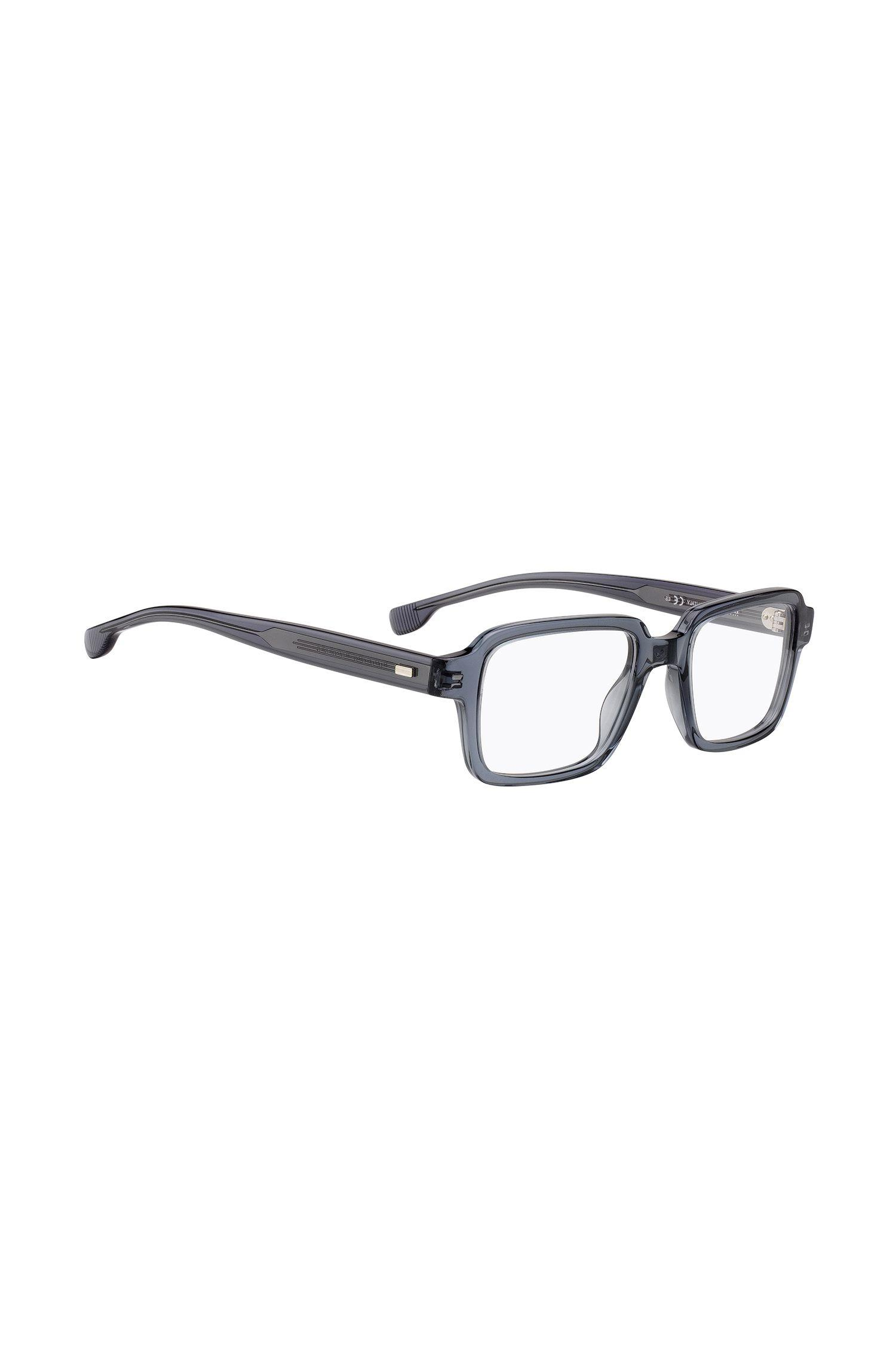 5b1a12f57f BOSS Retro-inspired Glasses In Transparent Grey Acetate in Gray for ...