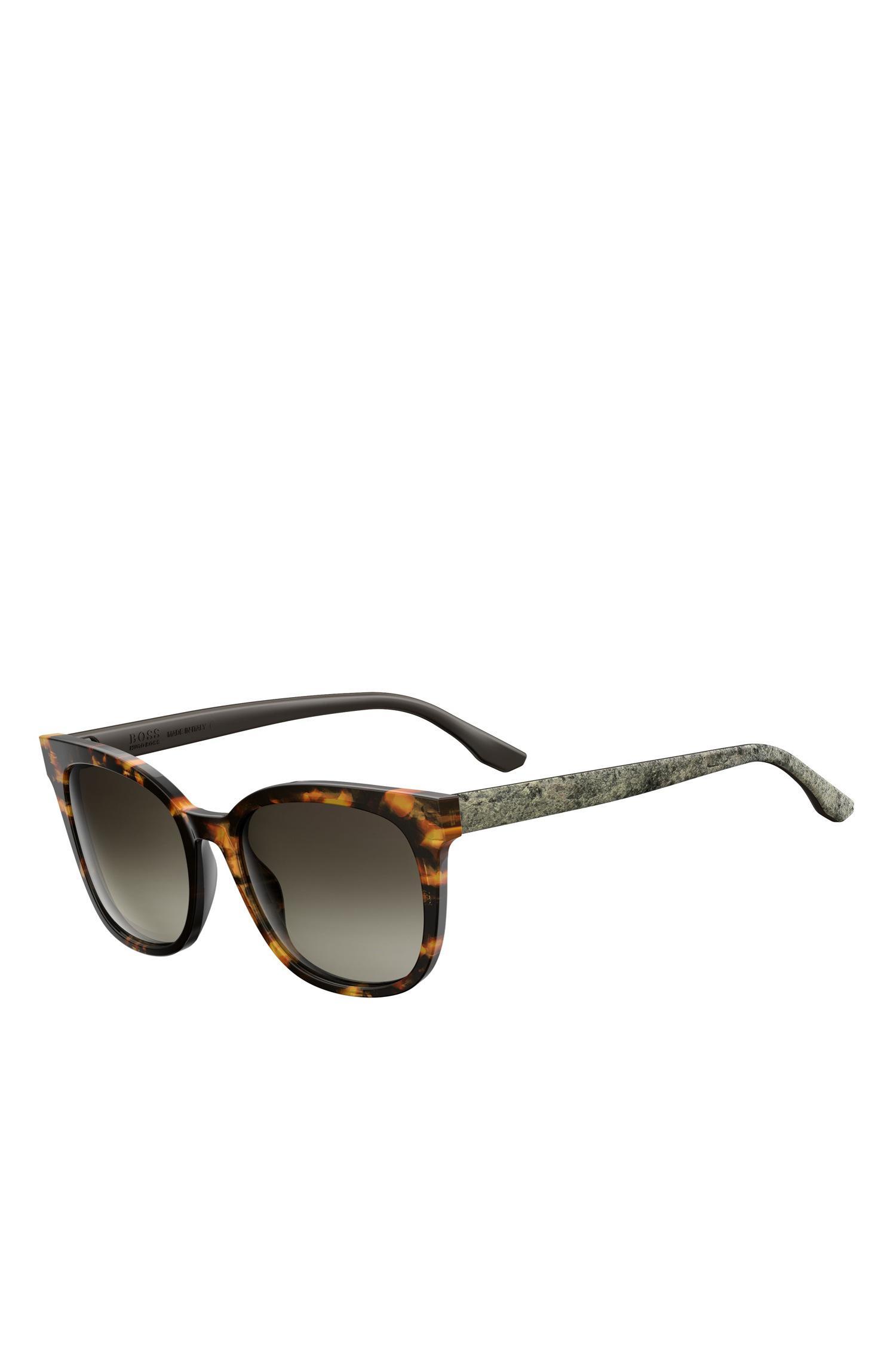 e8cc26647e BOSS. Women s Brown Tortoiseshell Acetate Round Sunglasses ...