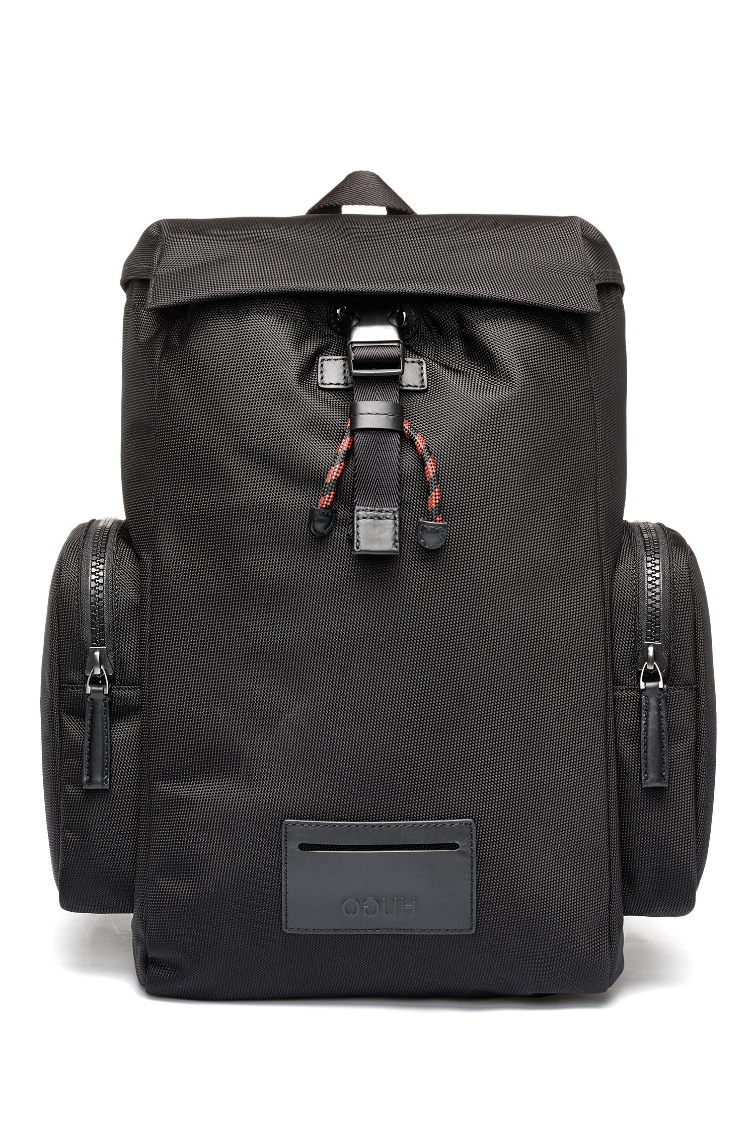 Low Price Original Cheap Price HUGO BOSS Printed backpack in nylon gabardine with calf-leather trims Genuine NzbqAheRHM