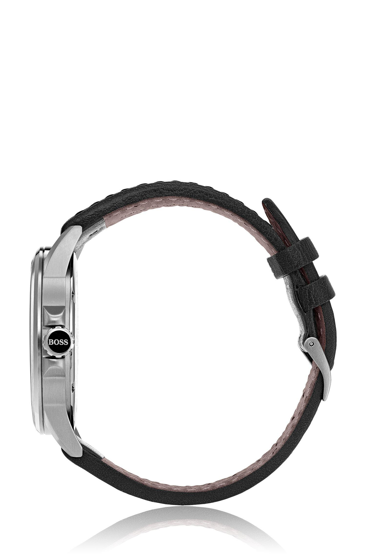 69d0d942e BOSS Aviator Casual Sport, Leather Strap Watch | 1513515 for Men - Lyst