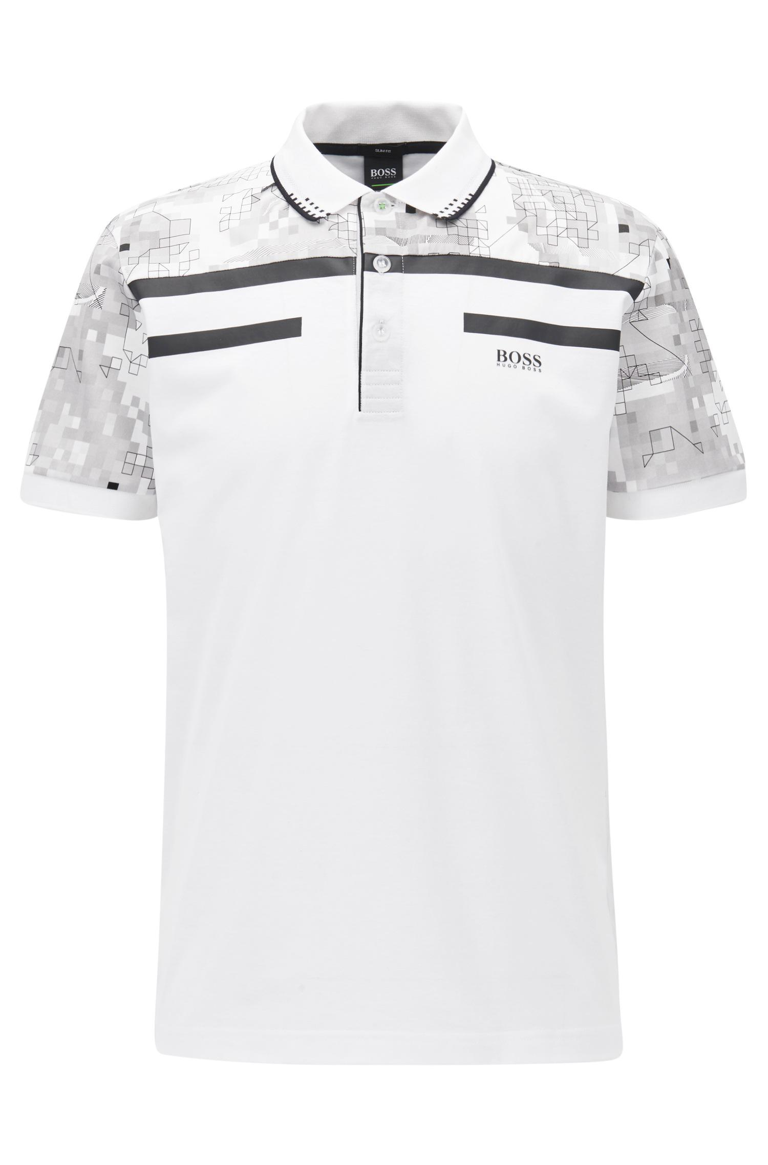 1950d020e BOSS Geometric Mercerized Cotton Polo Shirt
