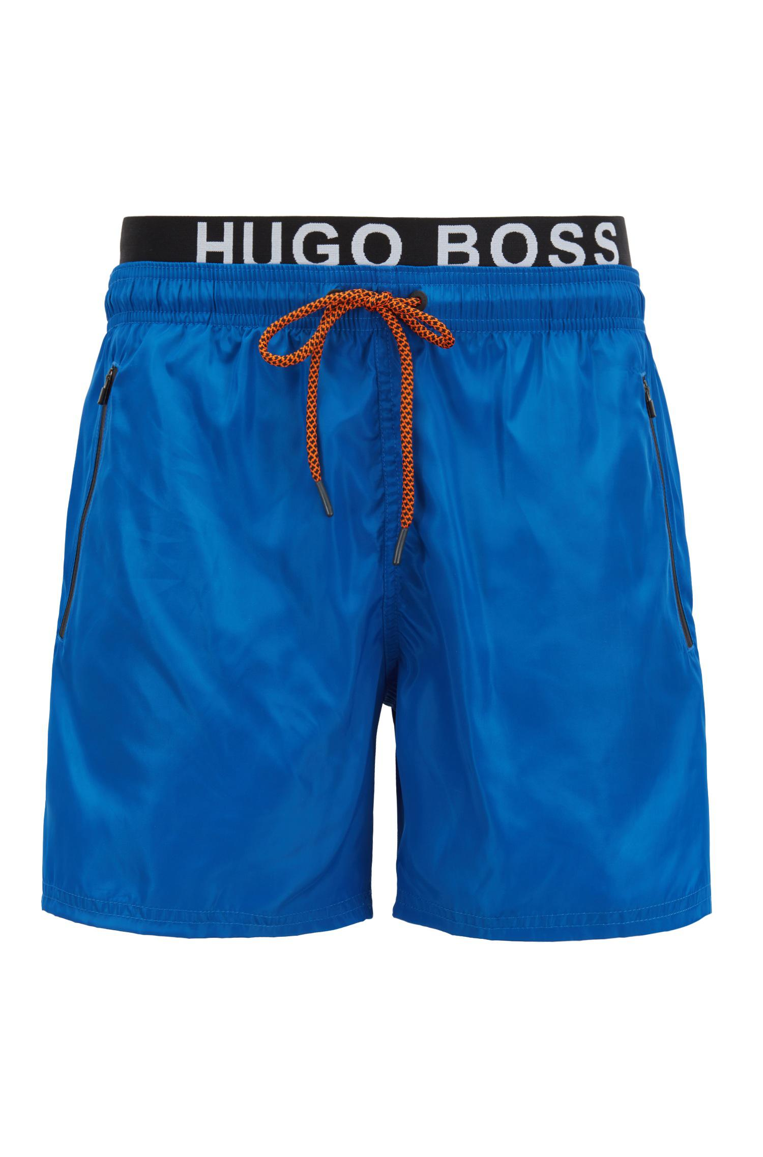 24d0c2a75 BOSS Lightweight Swim Shorts With Double Waistband in Blue for Men ...