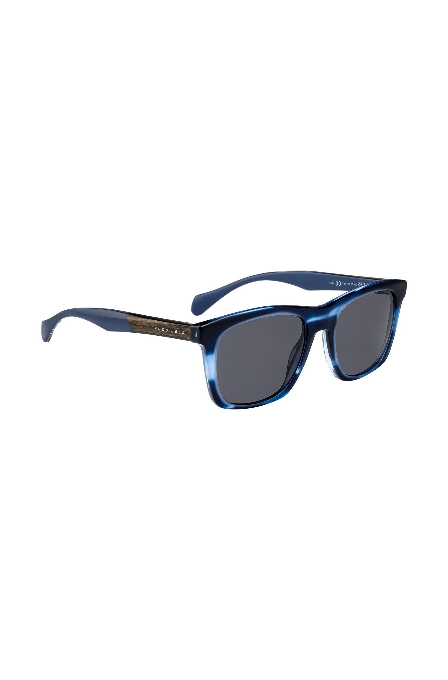 9431a36c033 Boss Sunglasses With Coloured Horn-effect Frames in Blue for Men - Lyst