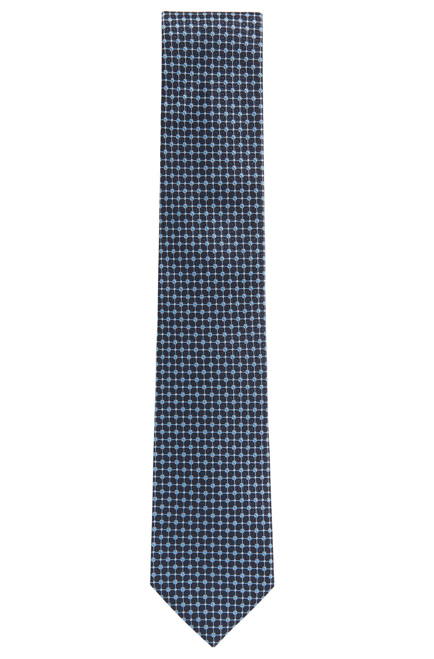 Silk-jacquard tie with criss-cross pattern HUGO BOSS dhLblGiFIX