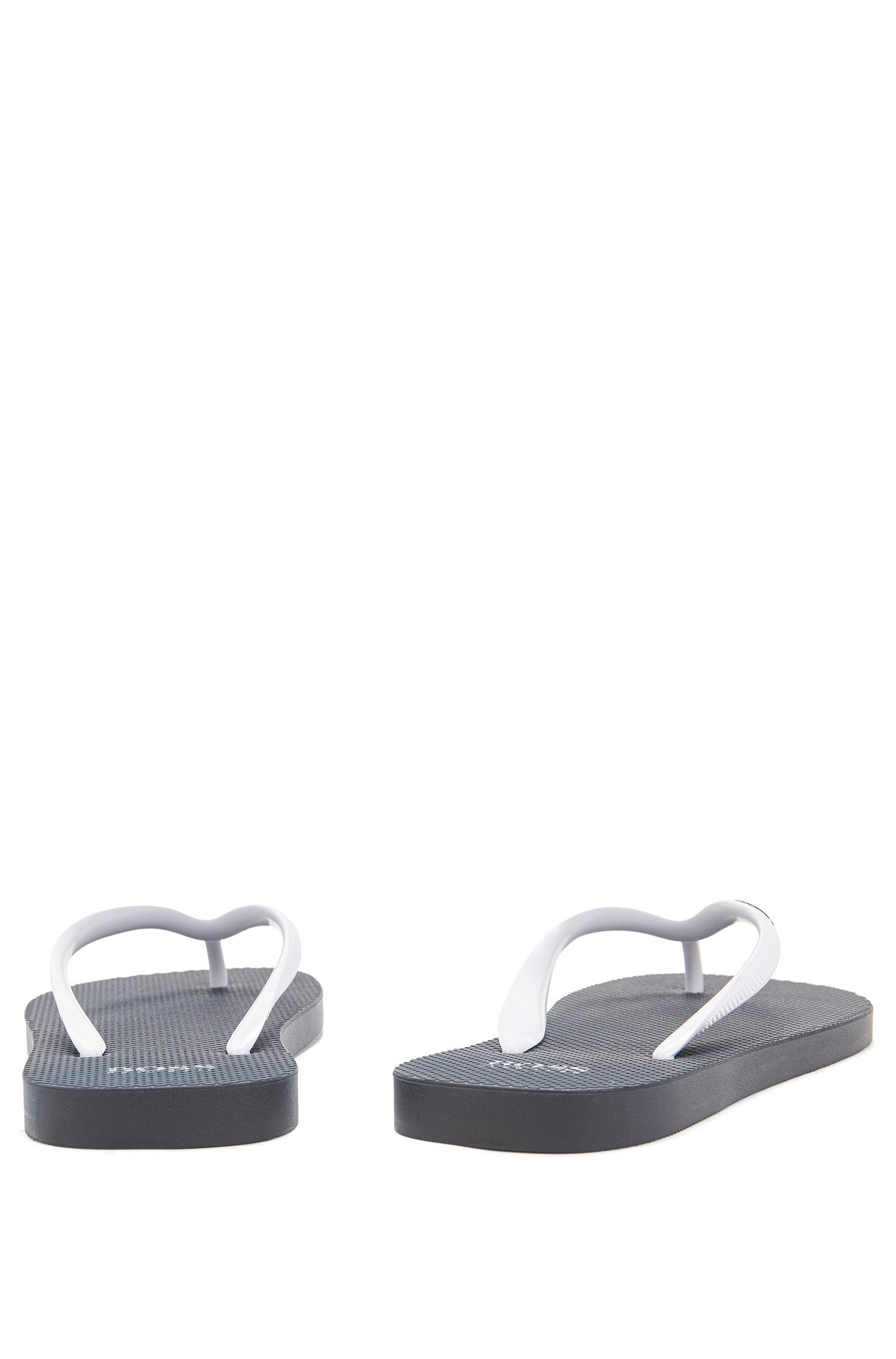 Toe-post flip-flops in textured rubber BOSS 2Xx0j
