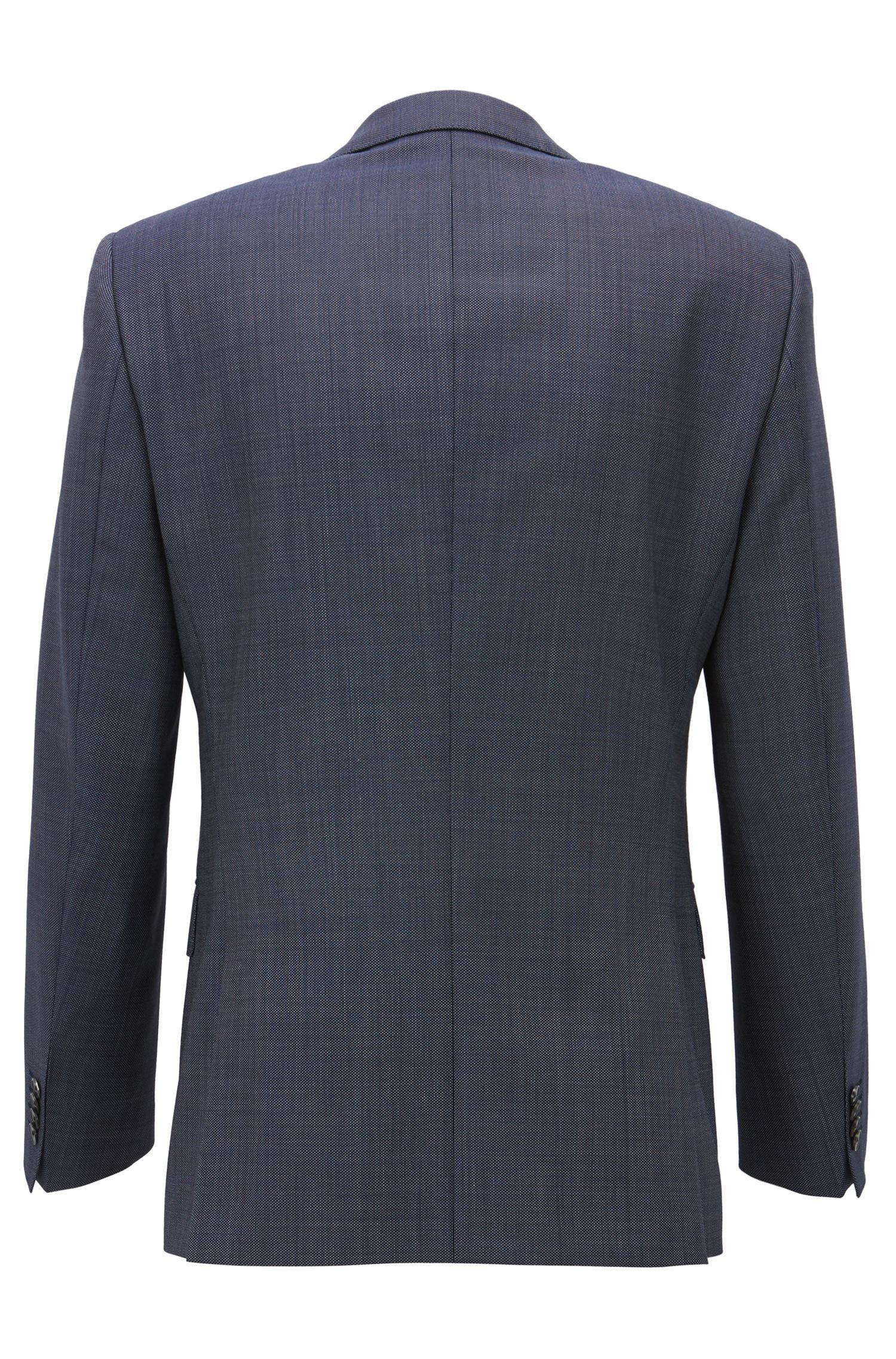 BOSS Slim-fit Suit In Micro-pattern Virgin Wool Serge in Blue for ... b2c0a047869