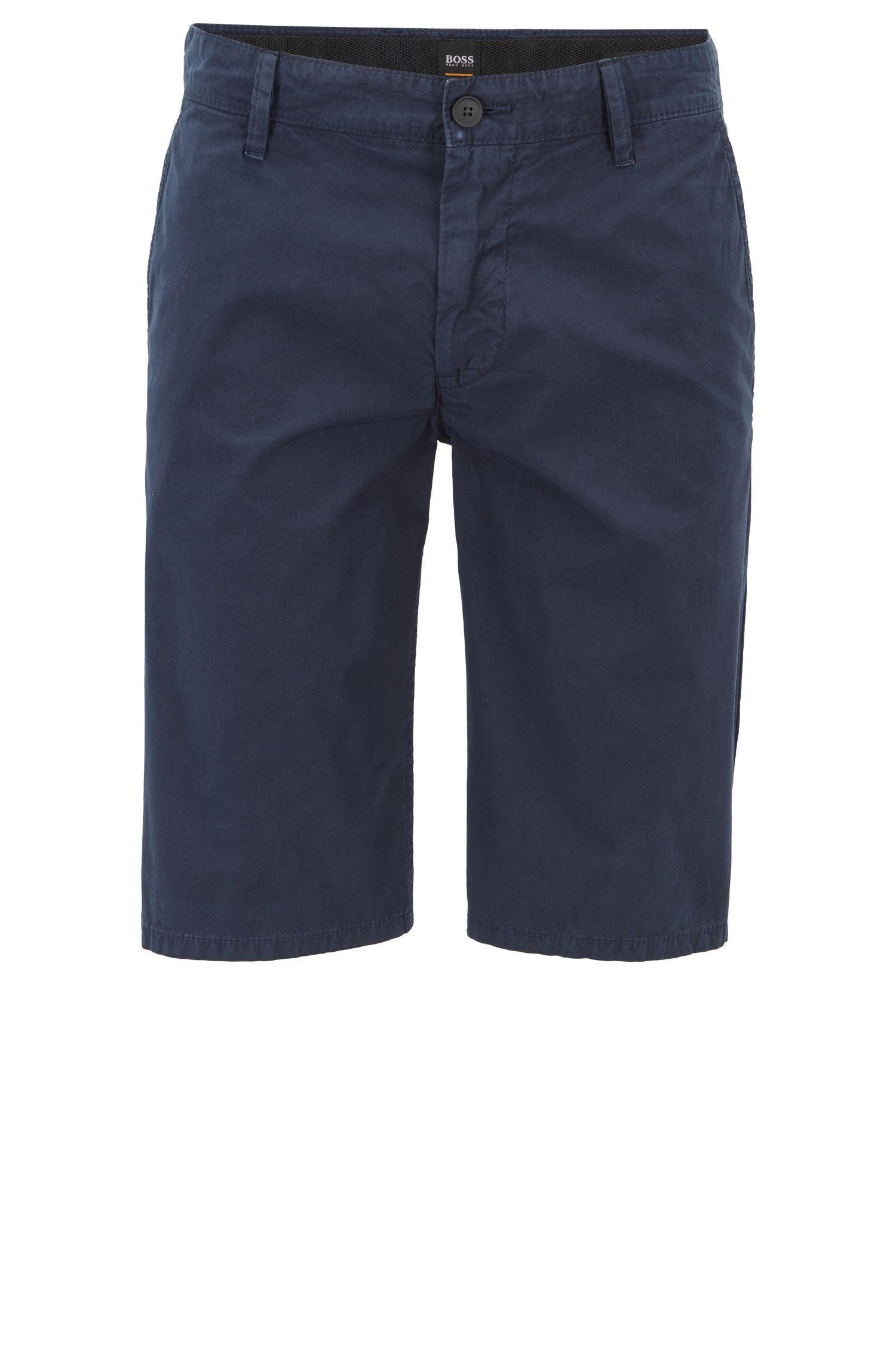 a8ba80e4 BOSS - Blue Regular-fit Reactive-dyed Shorts In Pure Cotton for Men -. View  fullscreen