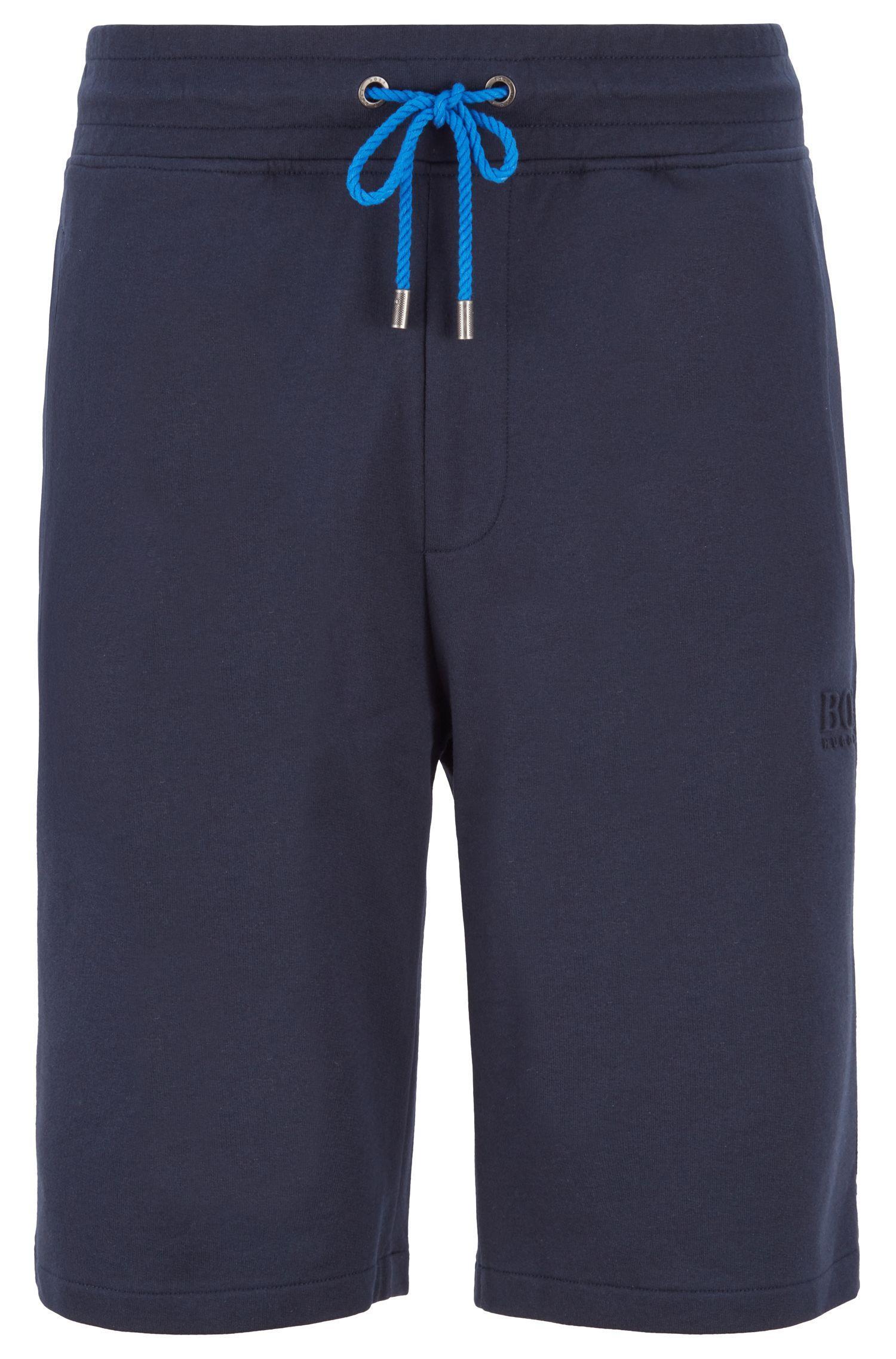 c008e5b1e8 BOSS Loungewear Shorts In Melange French Terry in Blue for Men - Lyst