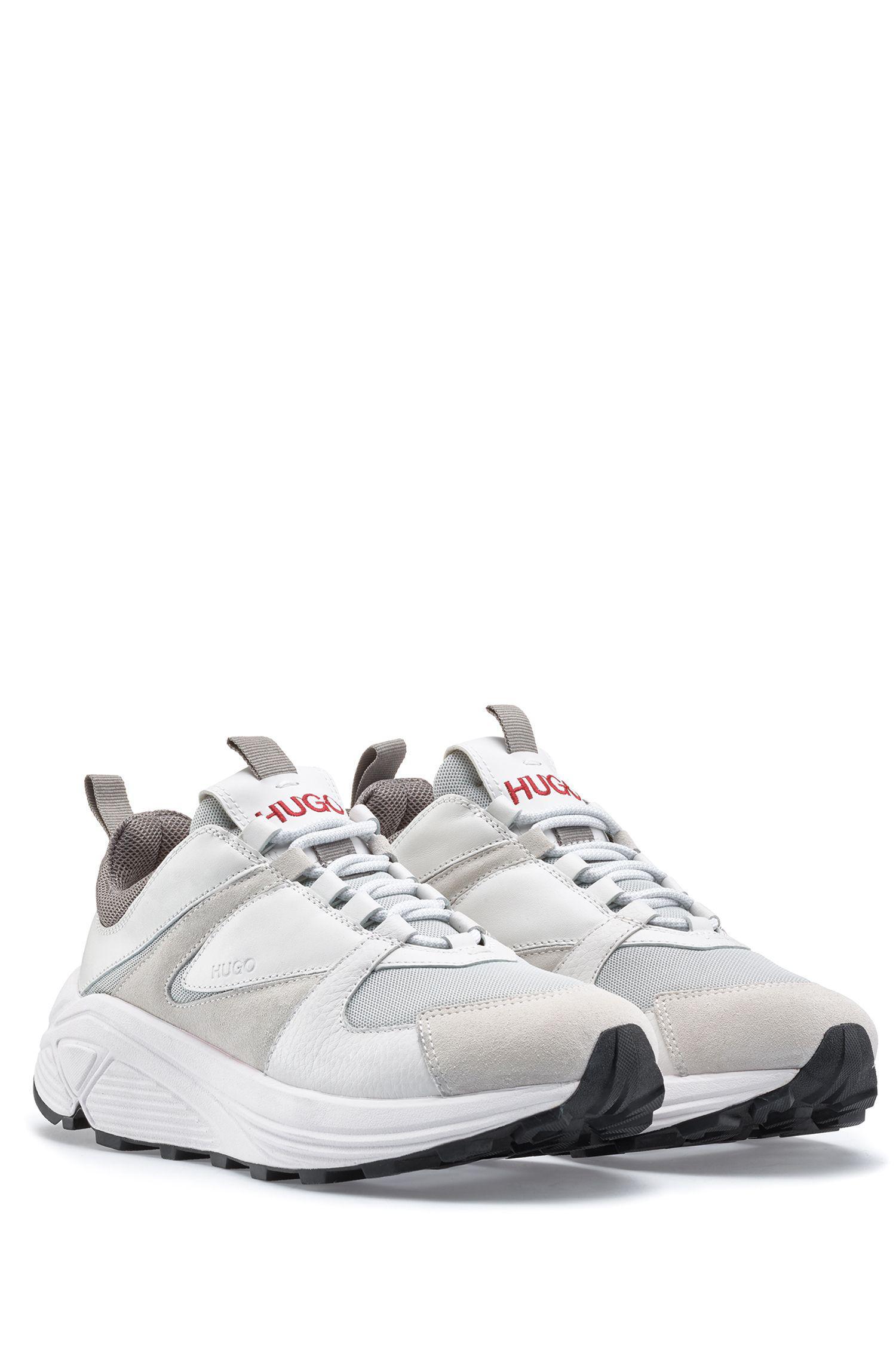 401ecb1ee81 HUGO - White Chunky Running-style Sneakers In Mesh