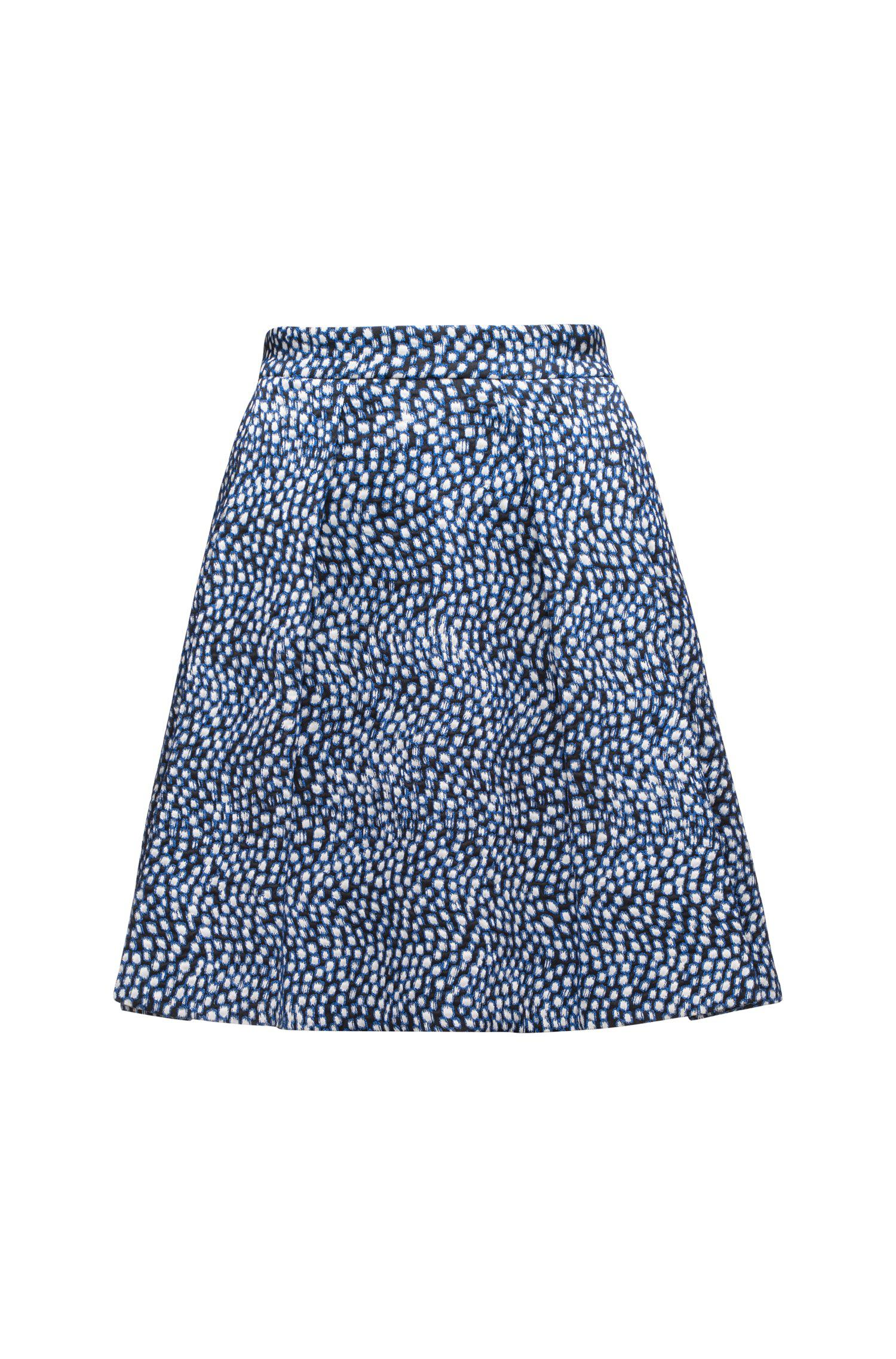 A-line skater skirt in a cotton-blend jacquard BOSS Sale For Cheap Pay With Paypal Sale Online Outlet Visit New Free Shipping Choice Fashionable Cheap Price XXI6j